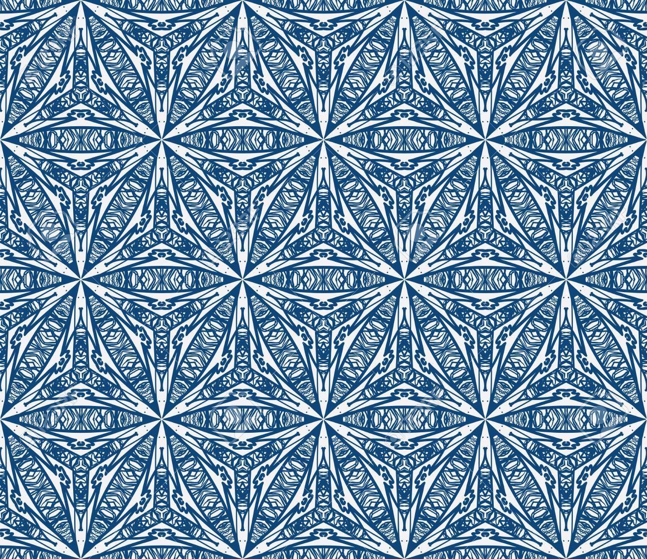 Muster, Mediterrane Fliesen-Design Mit Dicken Und Dünnen ...