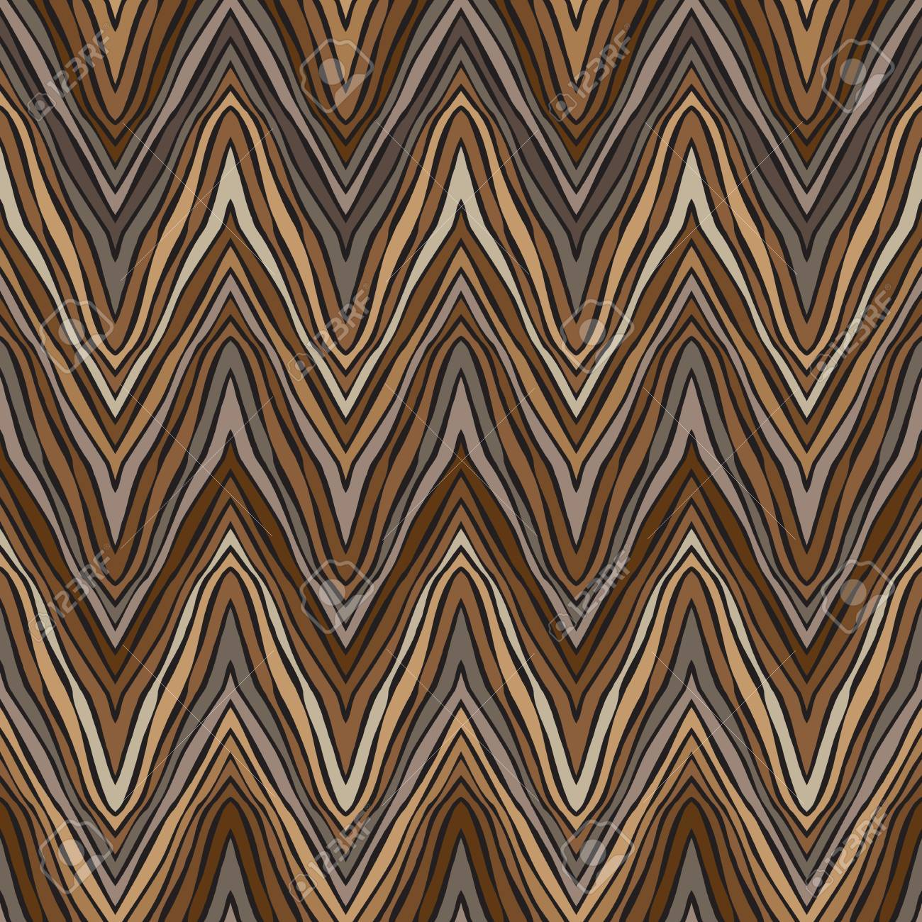 psychedelic linear zigzag pattern Stock Vector - 17201041
