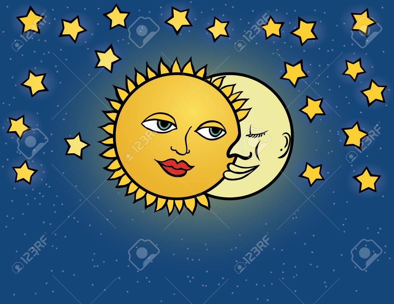 moon sun, illustration Stock Vector - 17775297