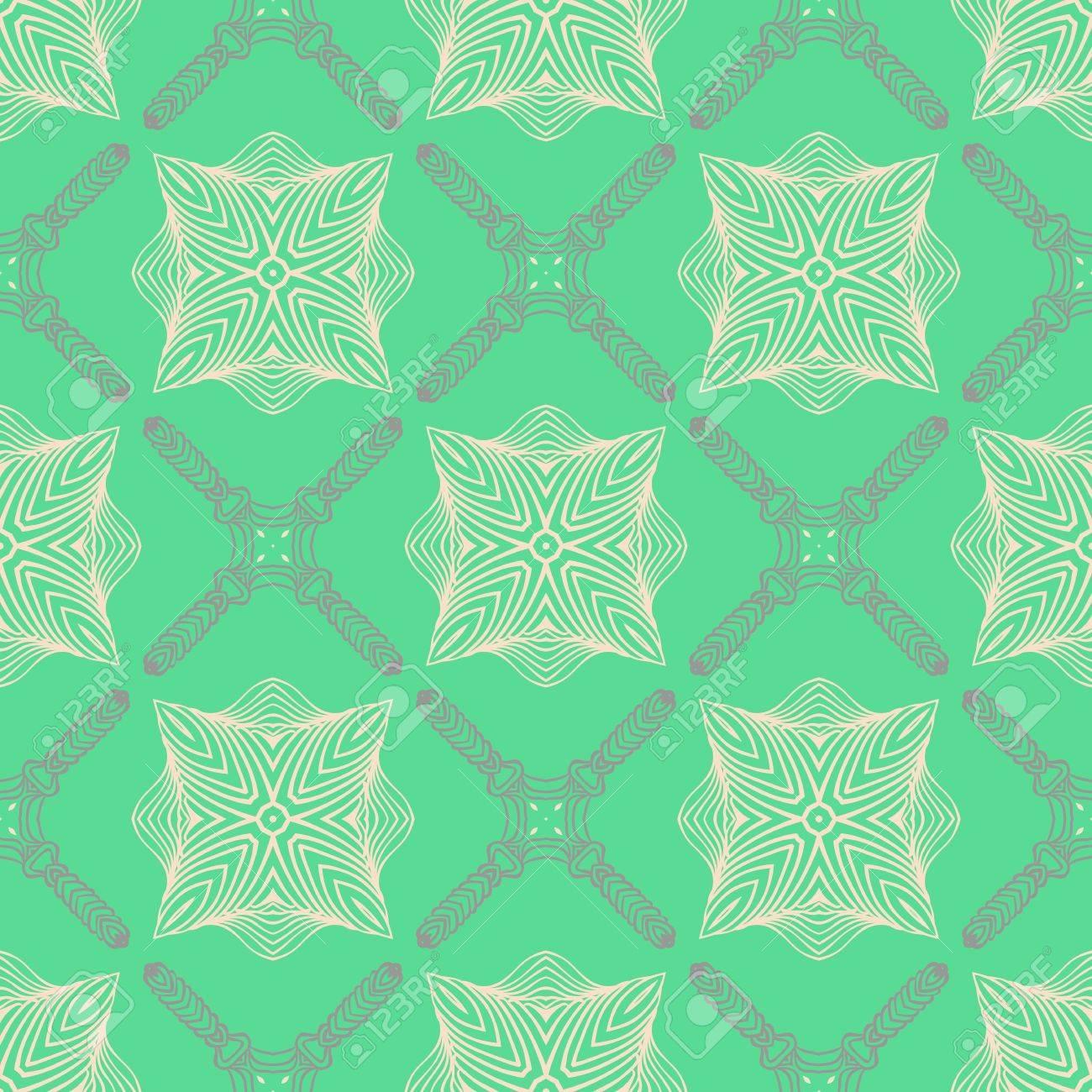 Modèle De Couleur Vert émeraude Délicates Lignes élégantes Clip Art