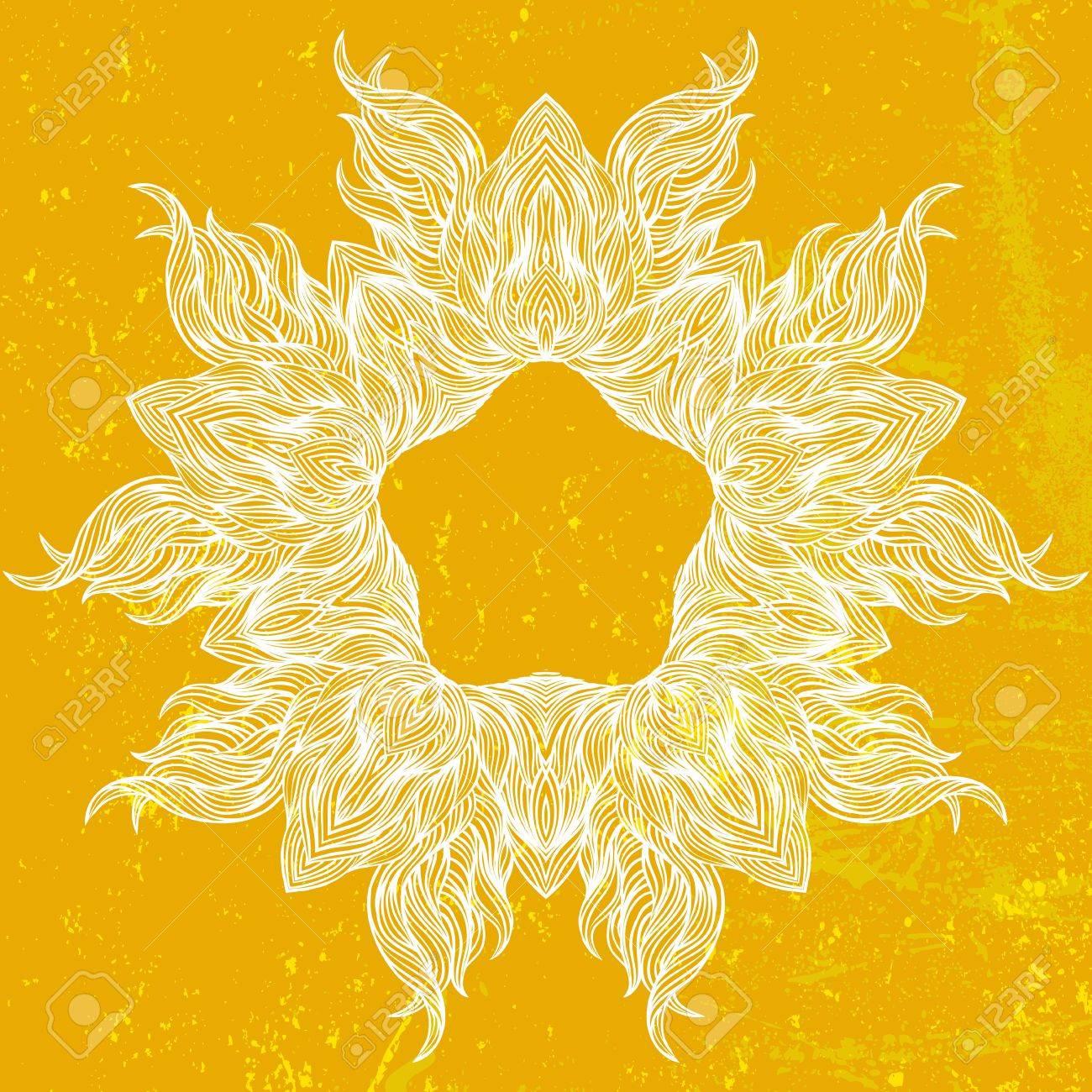 Ornamental mandala drawn in thin lines Stock Photo - 20862941