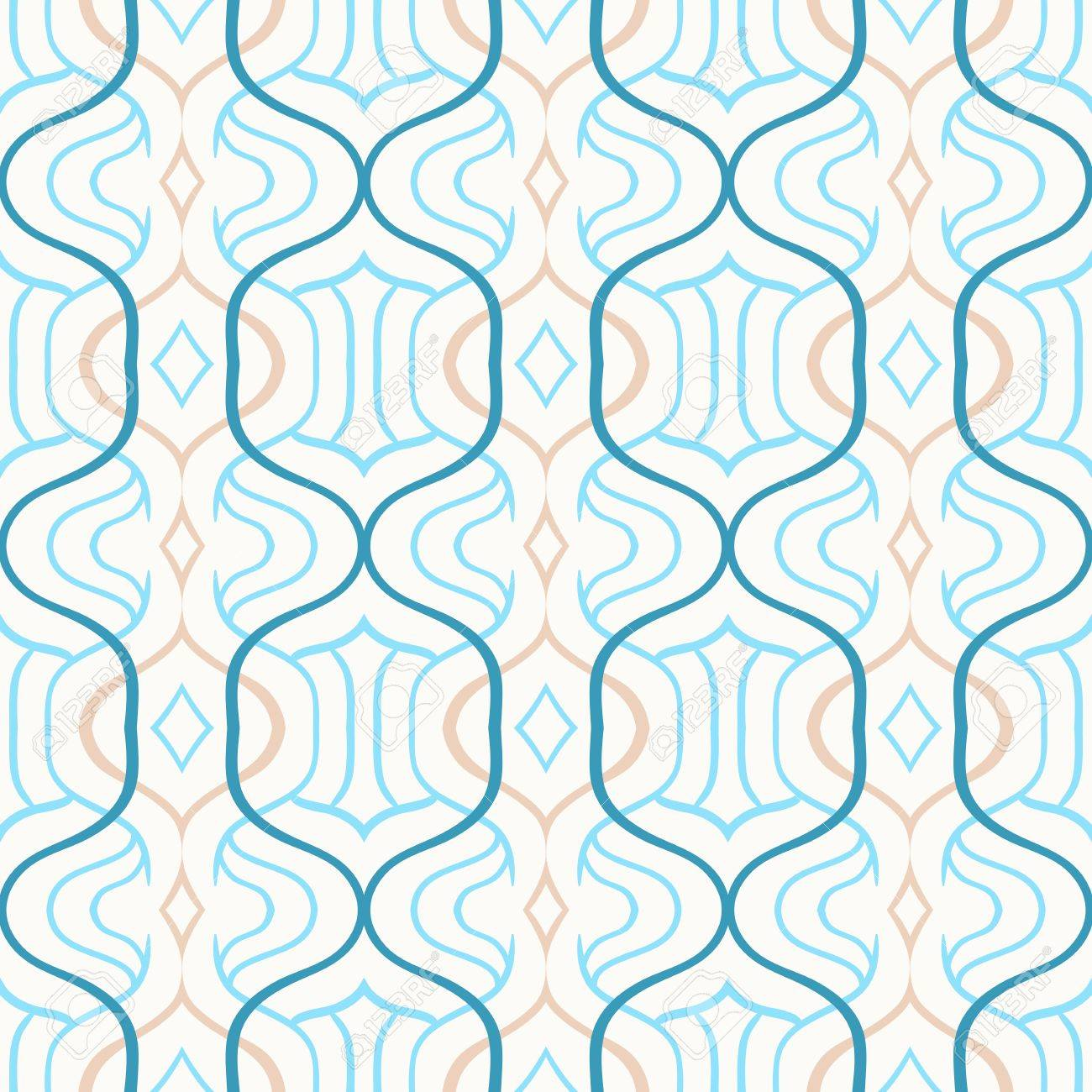 vector simple moroccan pattern in blue and white stock photo