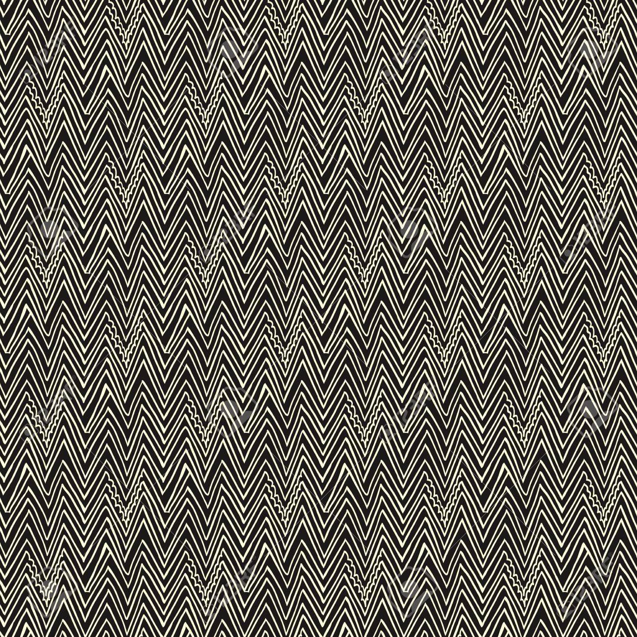 シンプルでエレガントな線形シームレスなパターンと白と黒のジグザグ線 テクスチャのための Web 印刷 壁紙 流行に敏感なスタイルで秋のファッション ファブリック 繊維 ウェブサイトまたは招待状の背景のイラスト素材 ベクタ Image