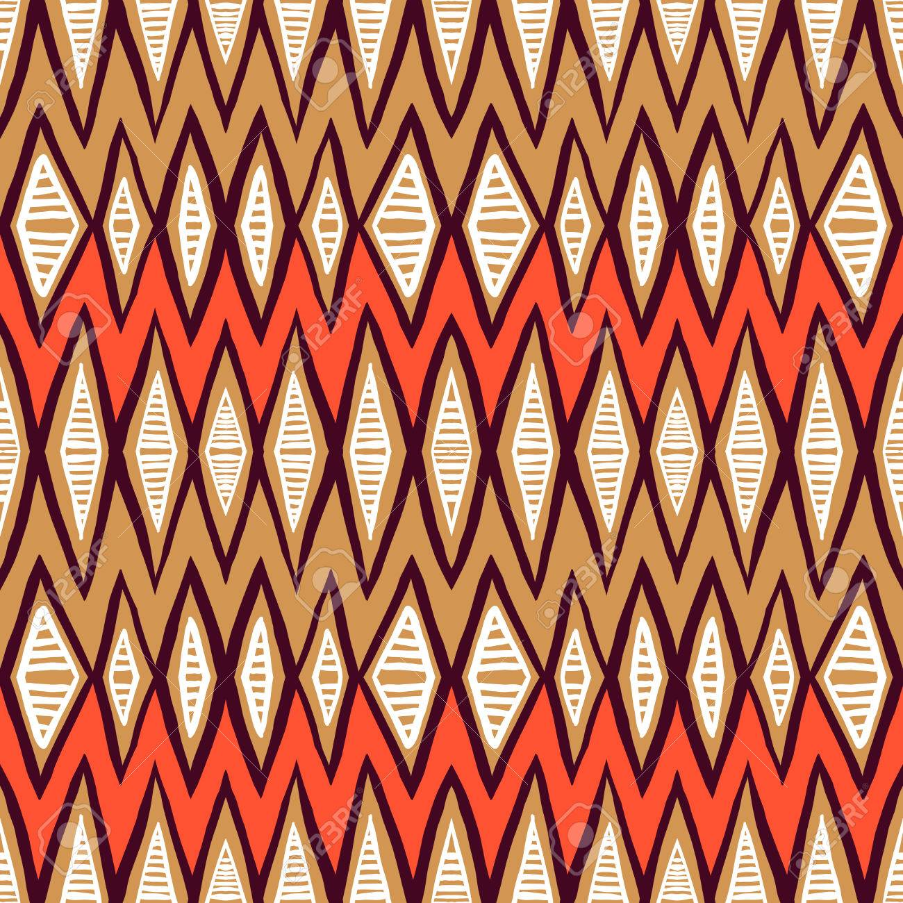 Vector ethnic pattern with zigzag lines in organic colors seamless vector vector ethnic pattern with zigzag lines in organic colors seamless texture for web print invitation card background textile stopboris Choice Image