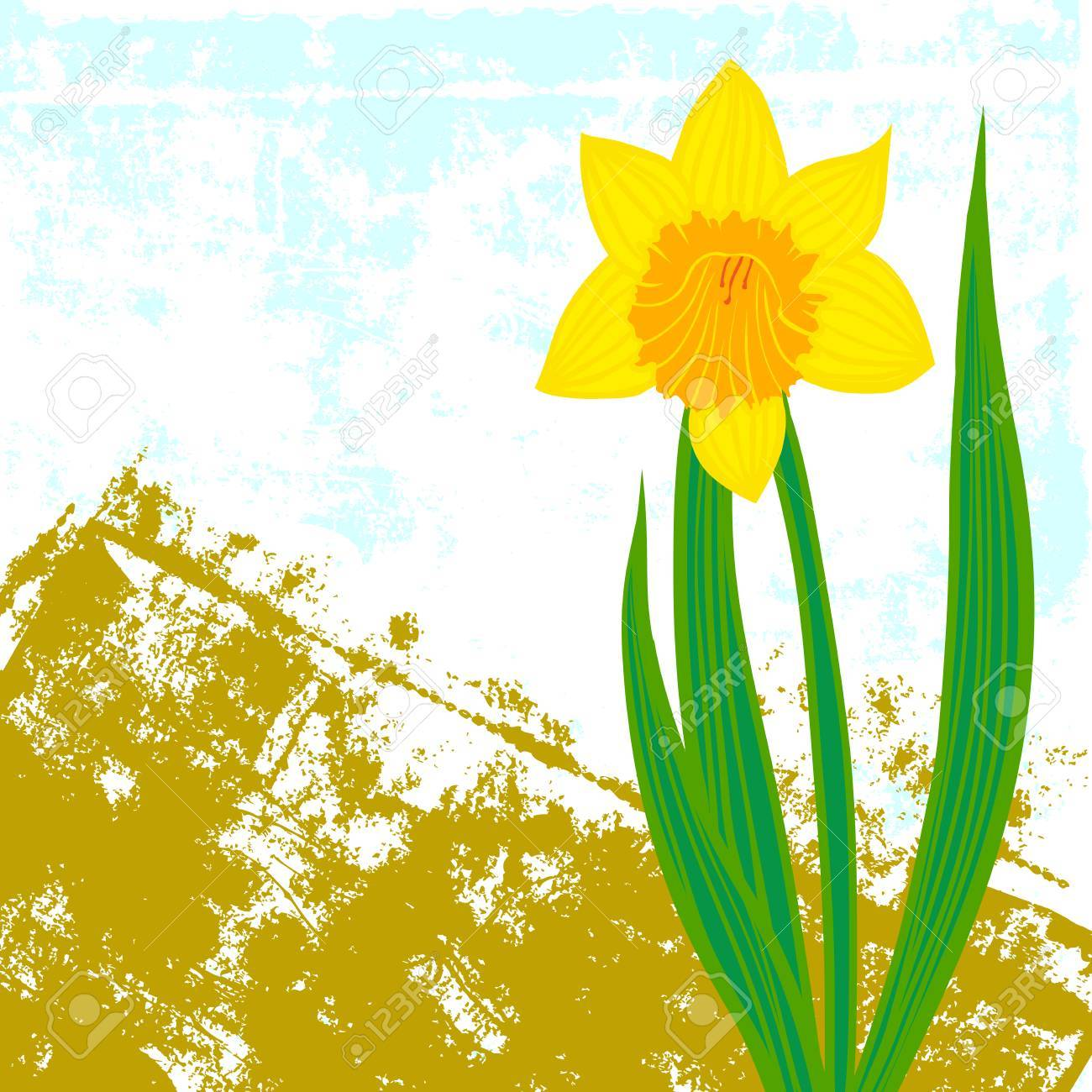 Vector card with daffodil on textured background template for vector card with daffodil on textured background template for easter promotion flower shop gift negle Choice Image