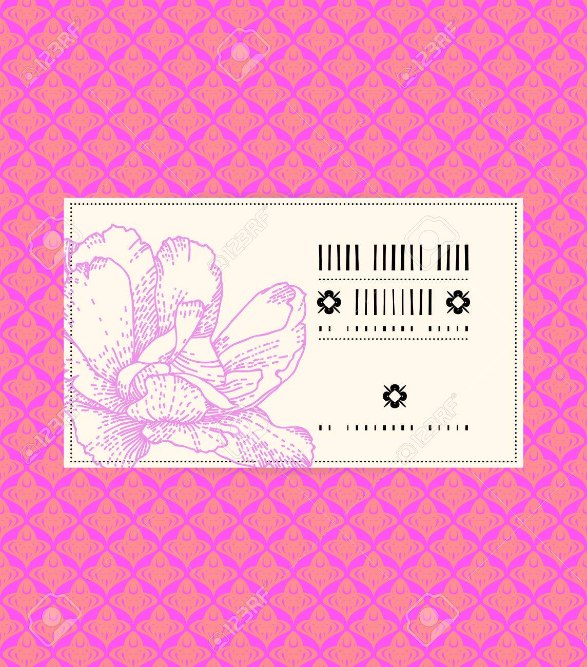 Vector vintage card with peony on romantic pink background template vector vector vintage card with peony on romantic pink background template for spa promotion flower shop gift card soap package spring sale coupon yelopaper Image collections