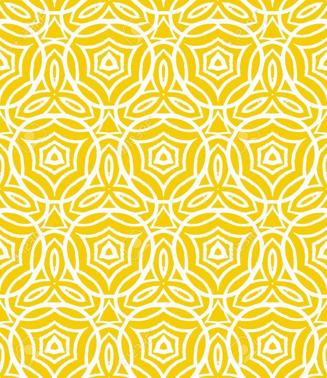 Weinlese-Art-Deco-Muster Mit Geschwungenen Linien, Formen Und Formen ...