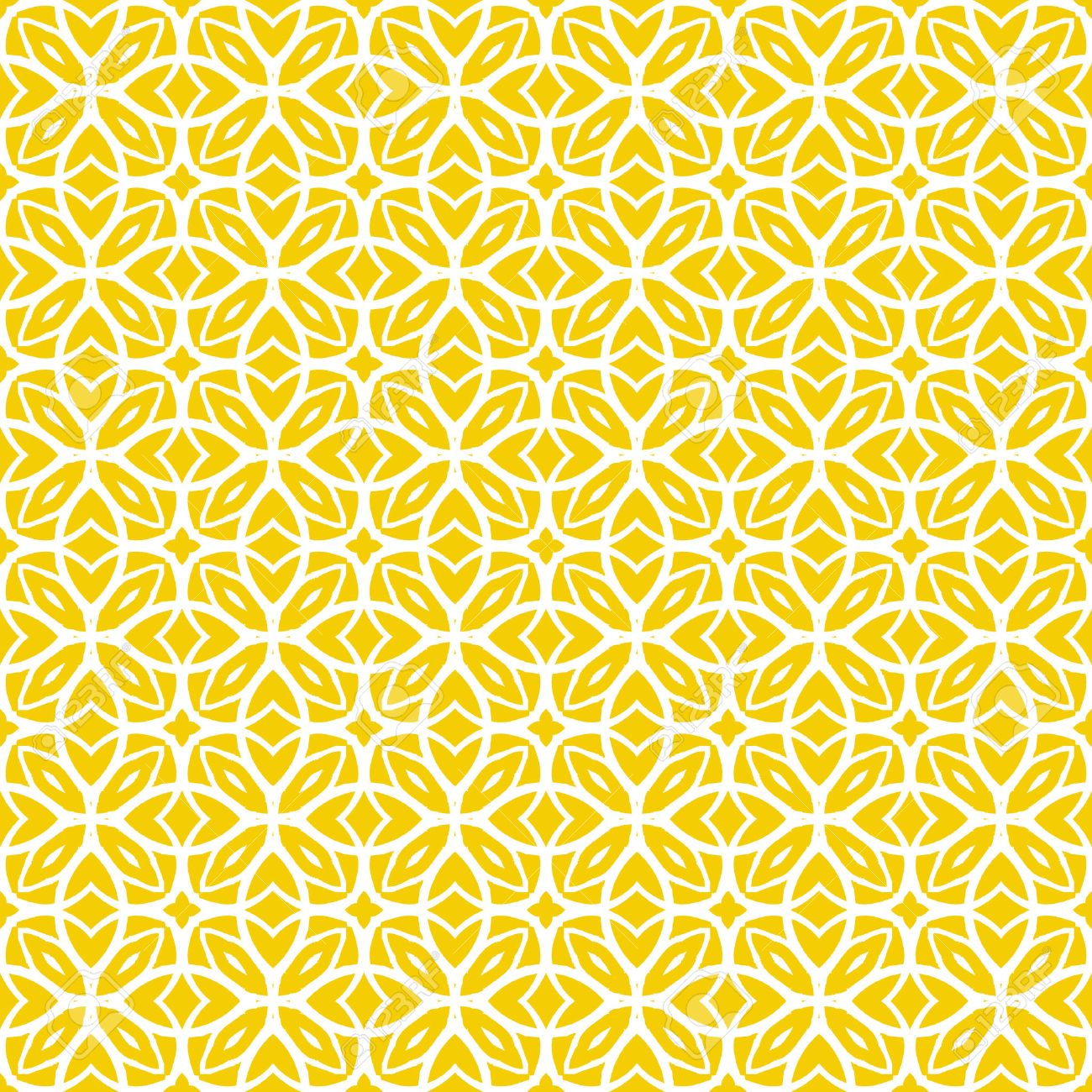 Vector Geometric Art Deco Pattern With Lacing Shapes In Yellow ...