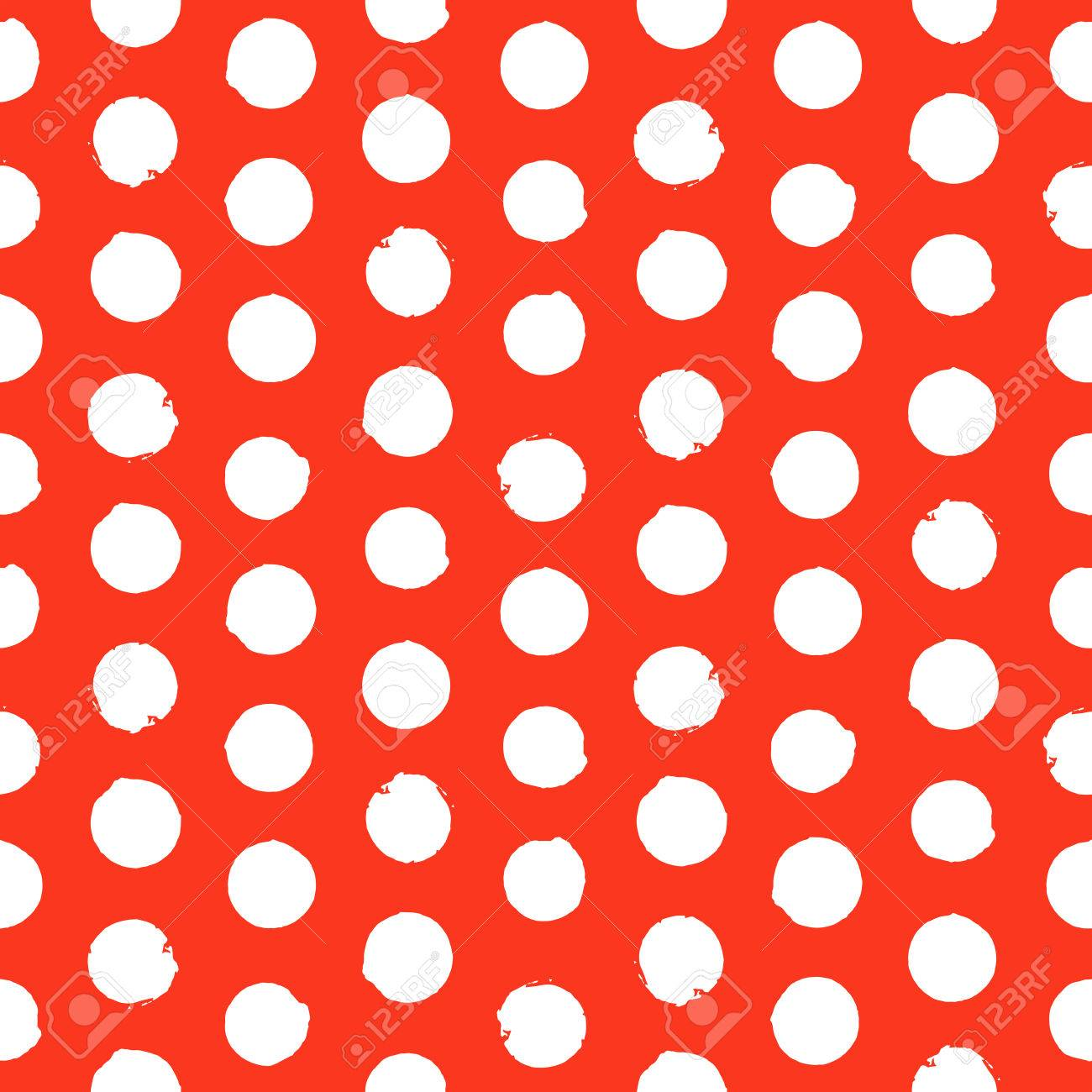 vector seamless hand drawn polka dot pattern painted texture rh 123rf com vector dot pattern free vector dot pattern gradient