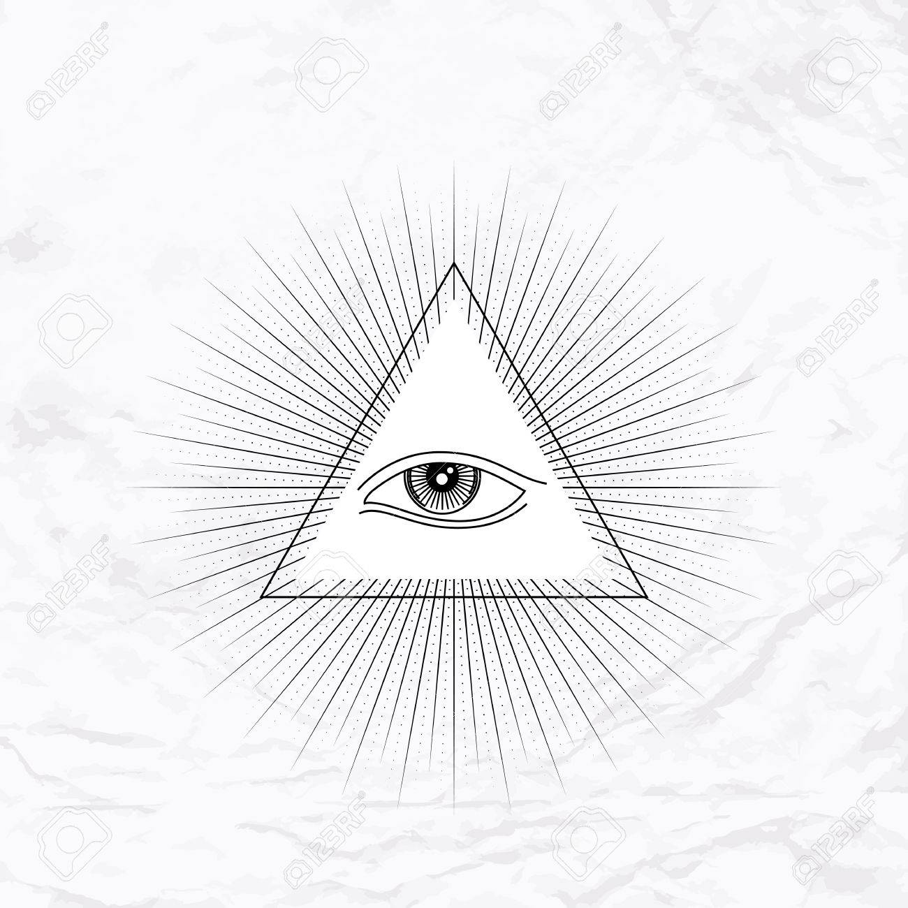 Vector geometric ancient alchemy symbol with eye pyramid shapes vector geometric ancient alchemy symbol with eye pyramid shapes abstract occult and mystic biocorpaavc