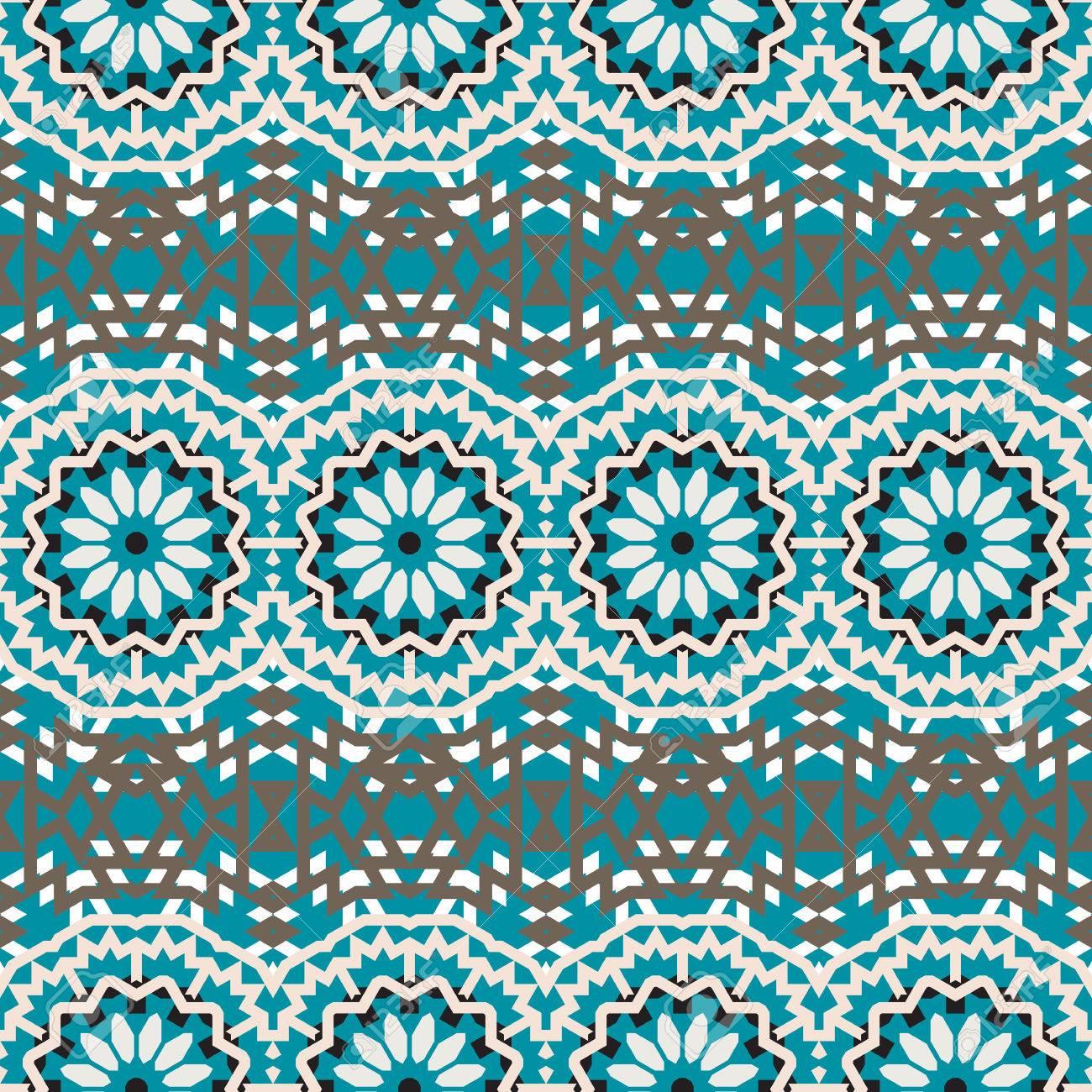 Tribal Vector Patrón Bohemio Colorido Con Grandes Flores De Colores