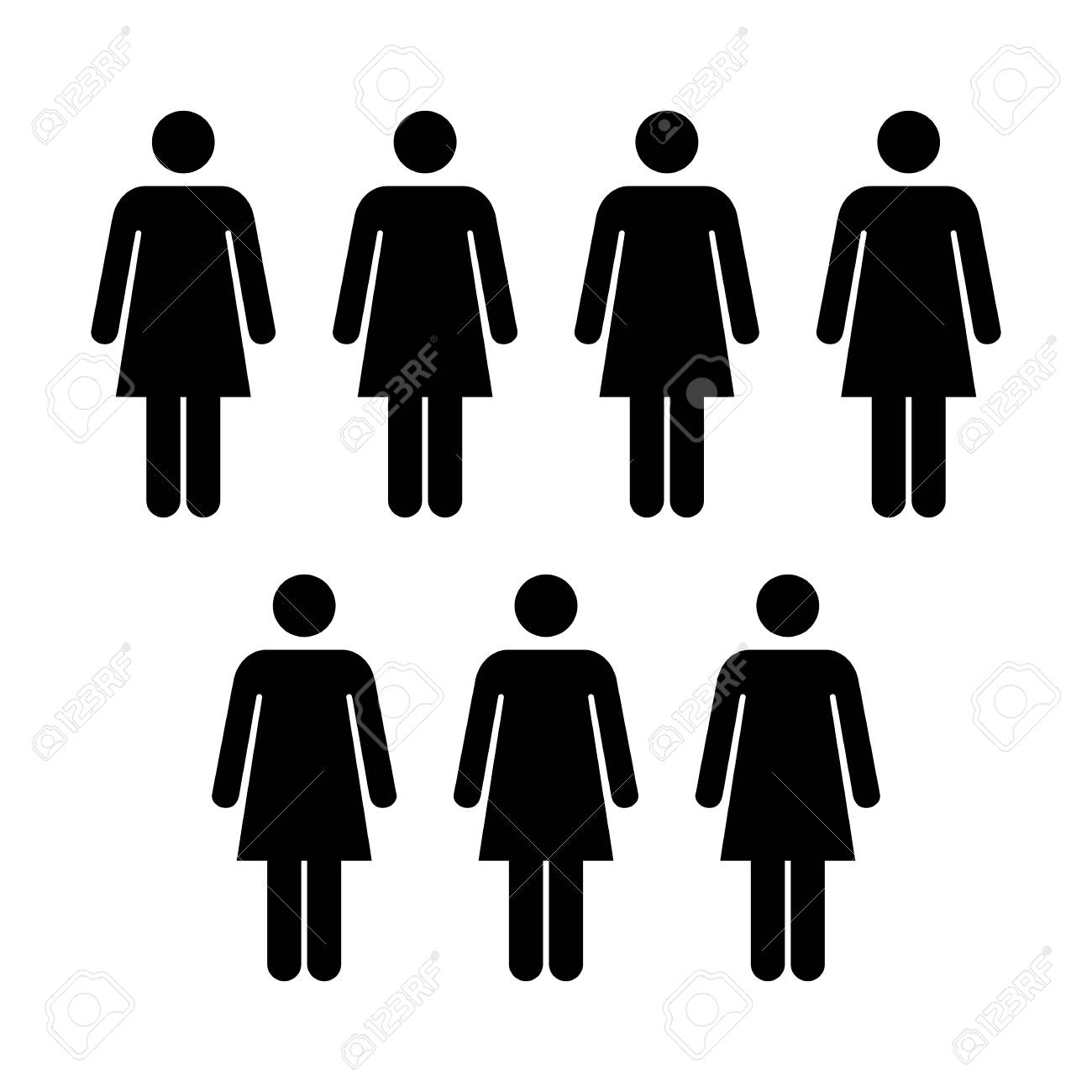 People Icon Vector Group Of Women Team Symbol For Business
