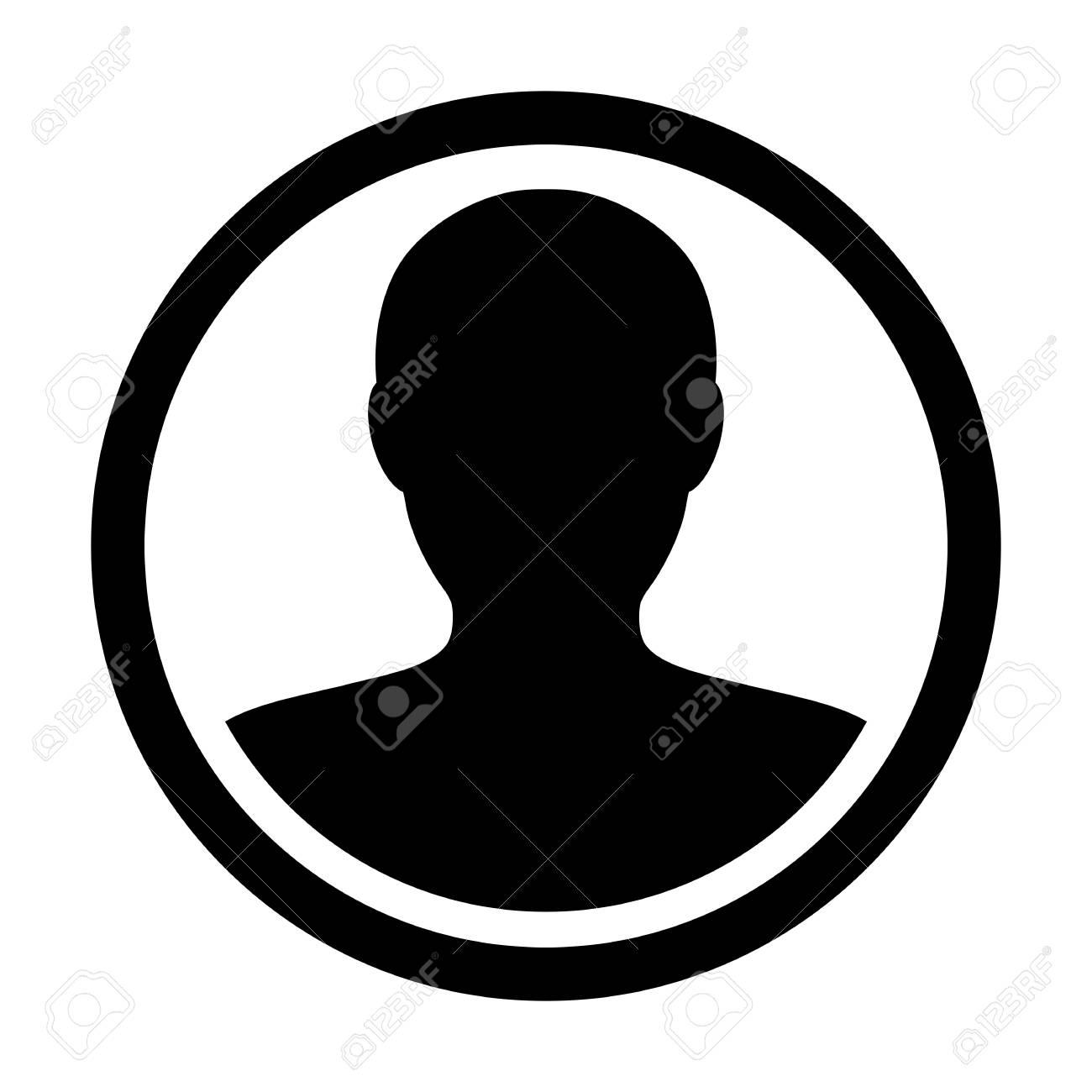 User Icon Vector Male Person Symbol  Profile Circle Avatar Sign
