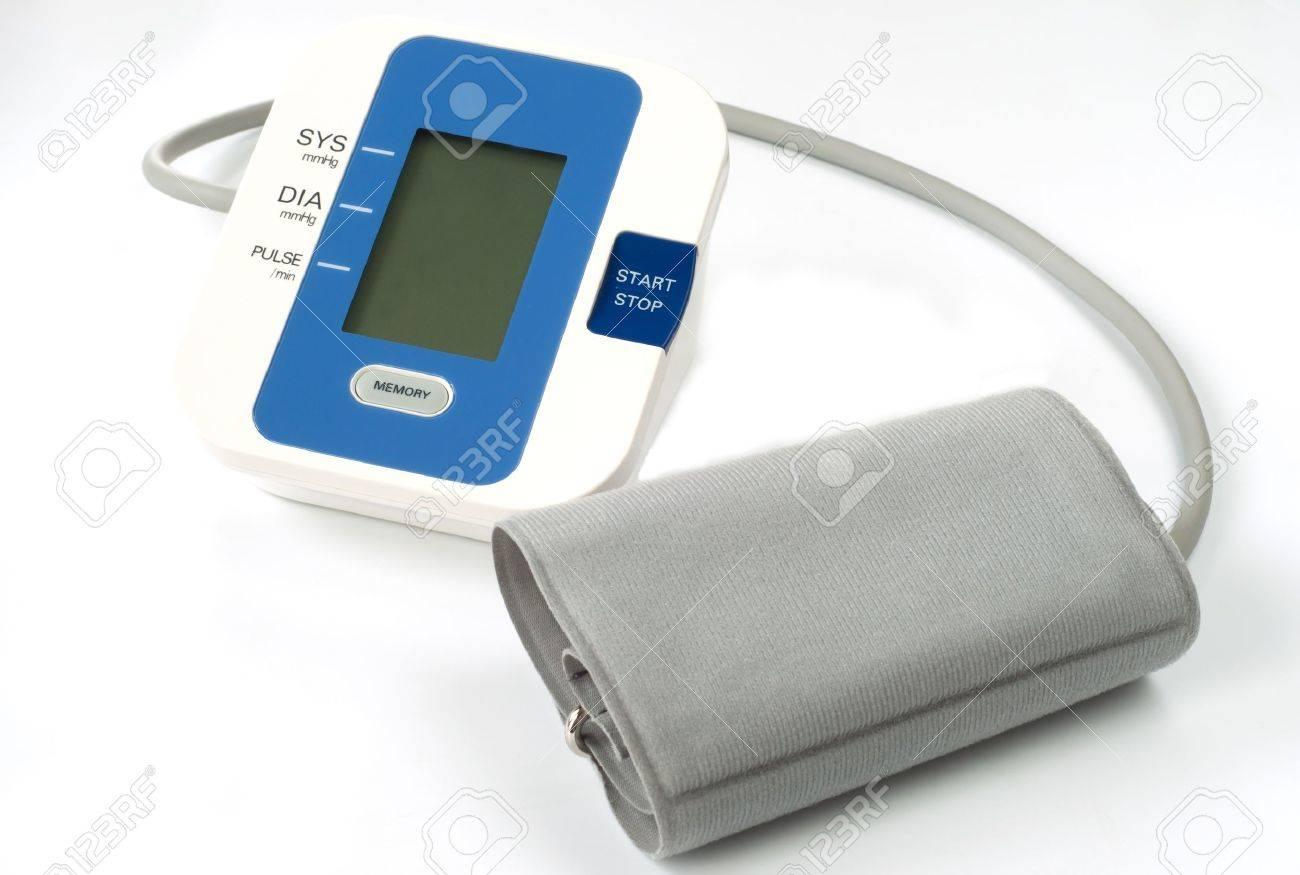 digital sphygmomanometer isolated on white Stock Photo - 15995569