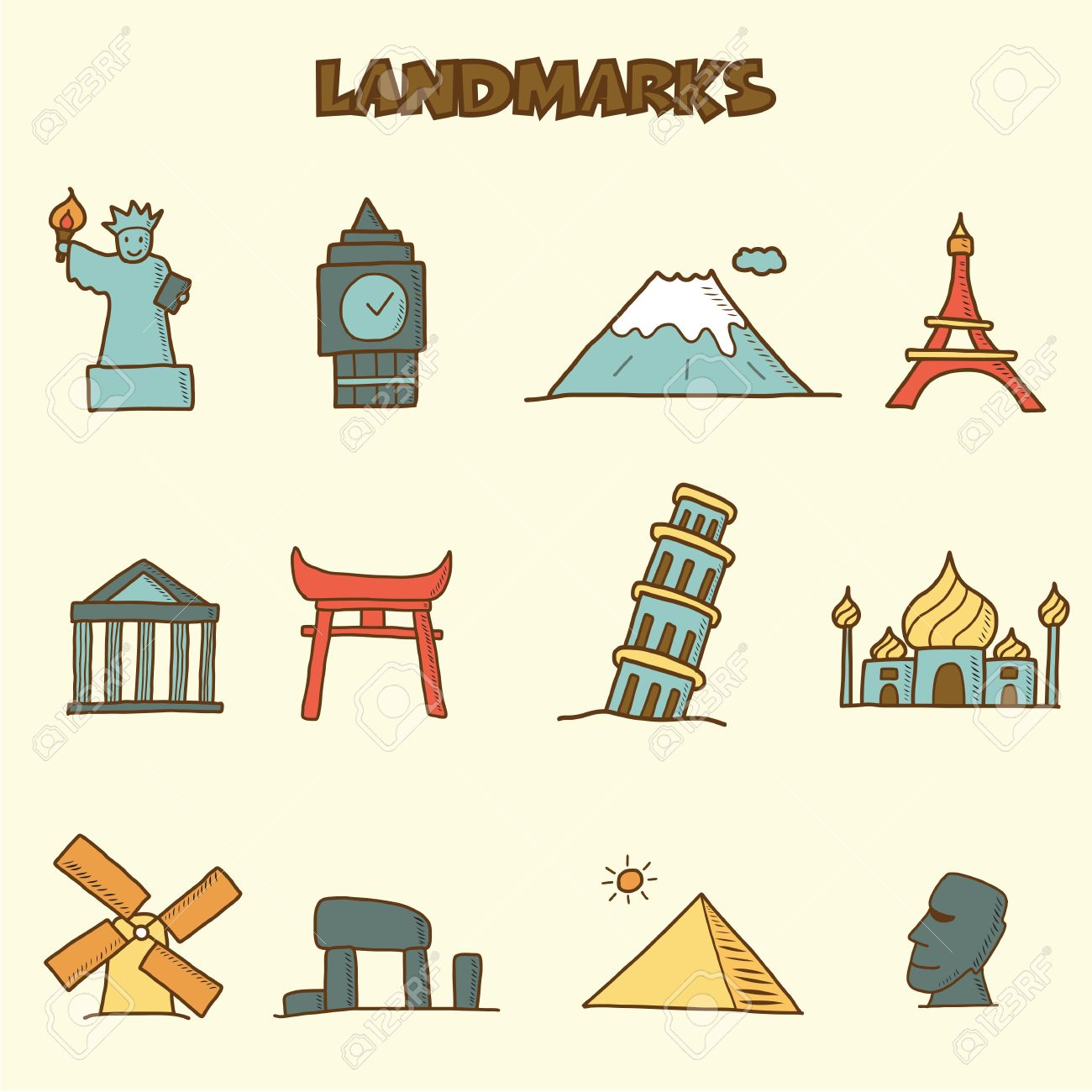 Landmarks Vector Vector Landmarks Doodle