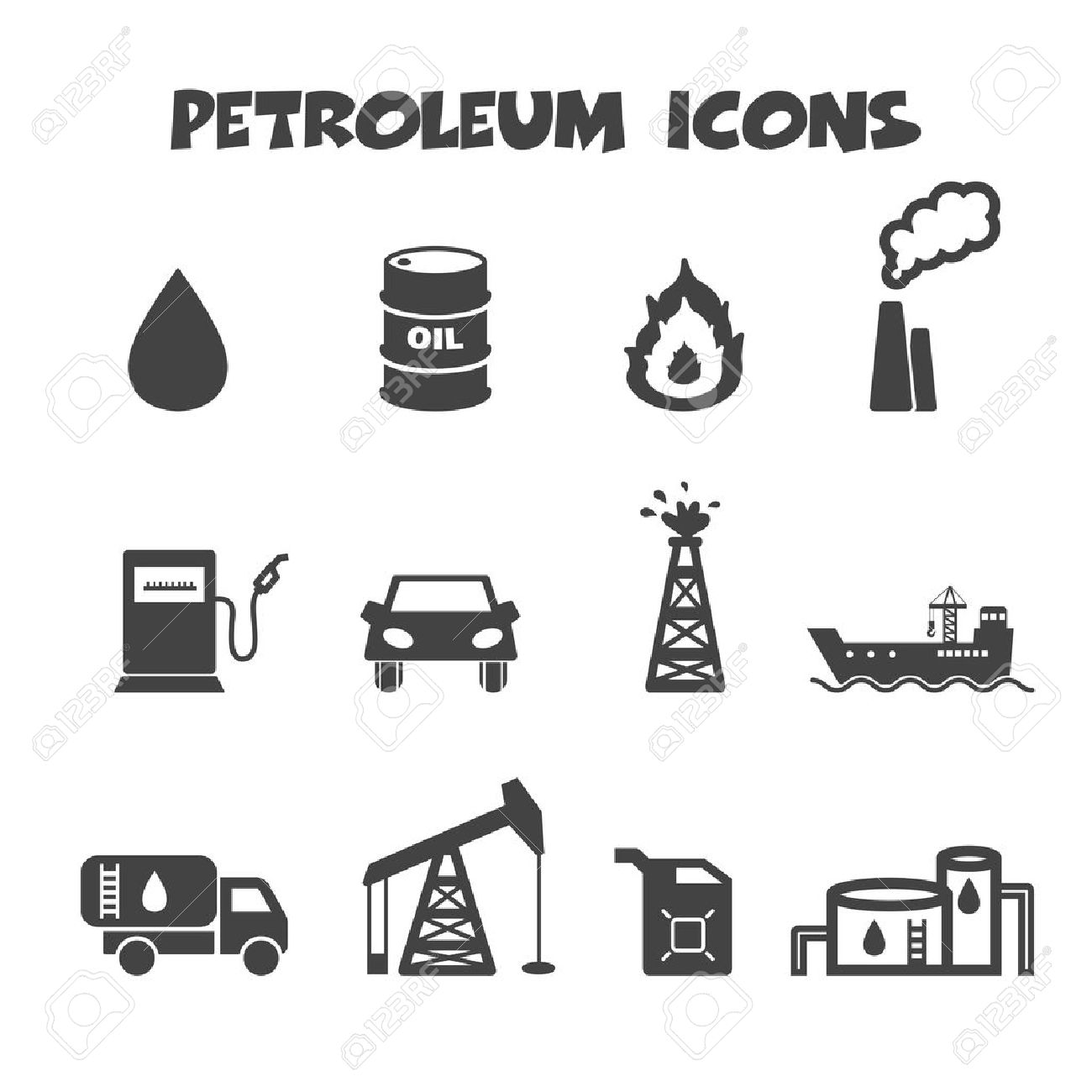 8570 crude oil stock vector illustration and royalty free crude petroleum icons mono vector symbols biocorpaavc Gallery