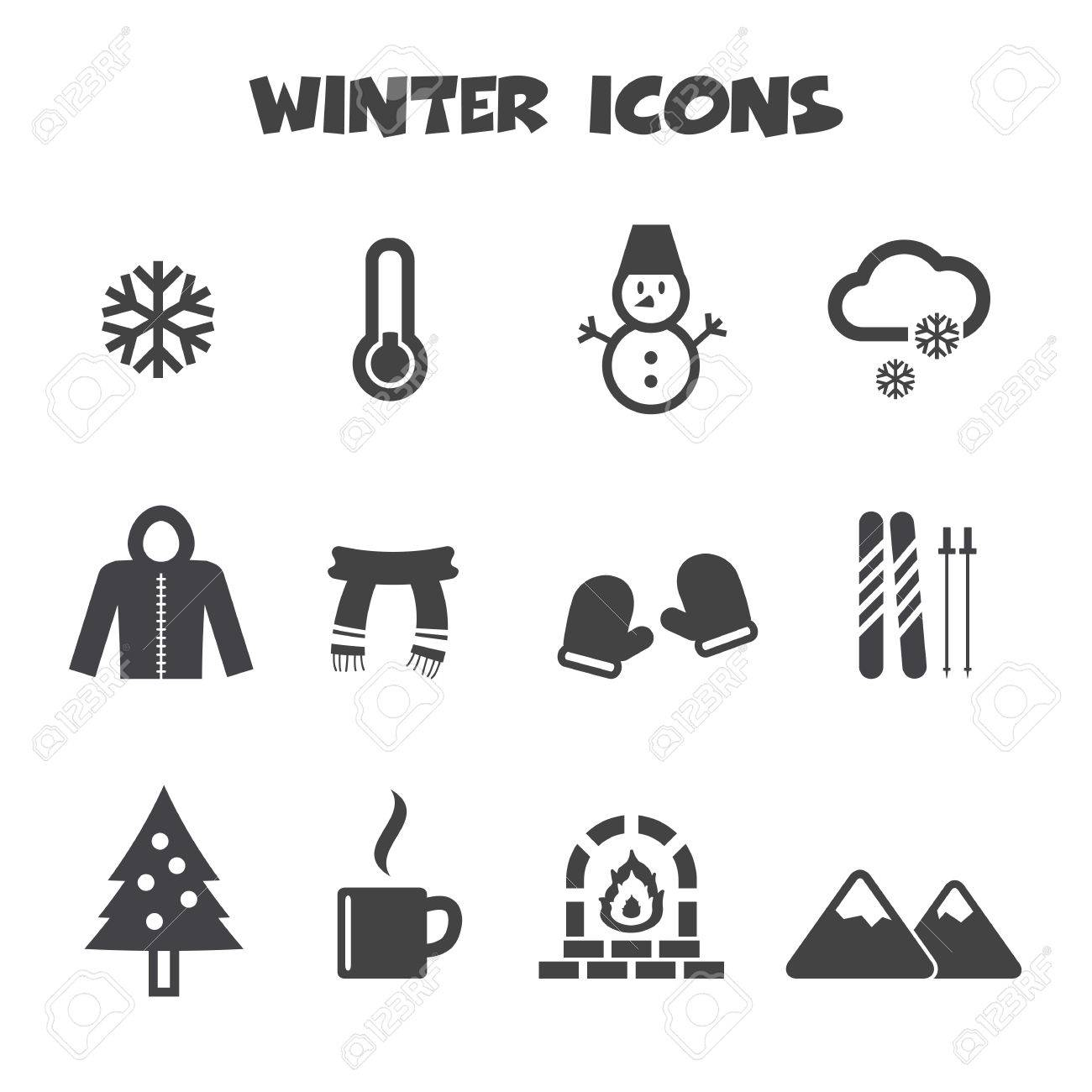 Winter icons symbols royalty free cliparts vectors and stock winter icons symbols stock vector 26618704 biocorpaavc Images