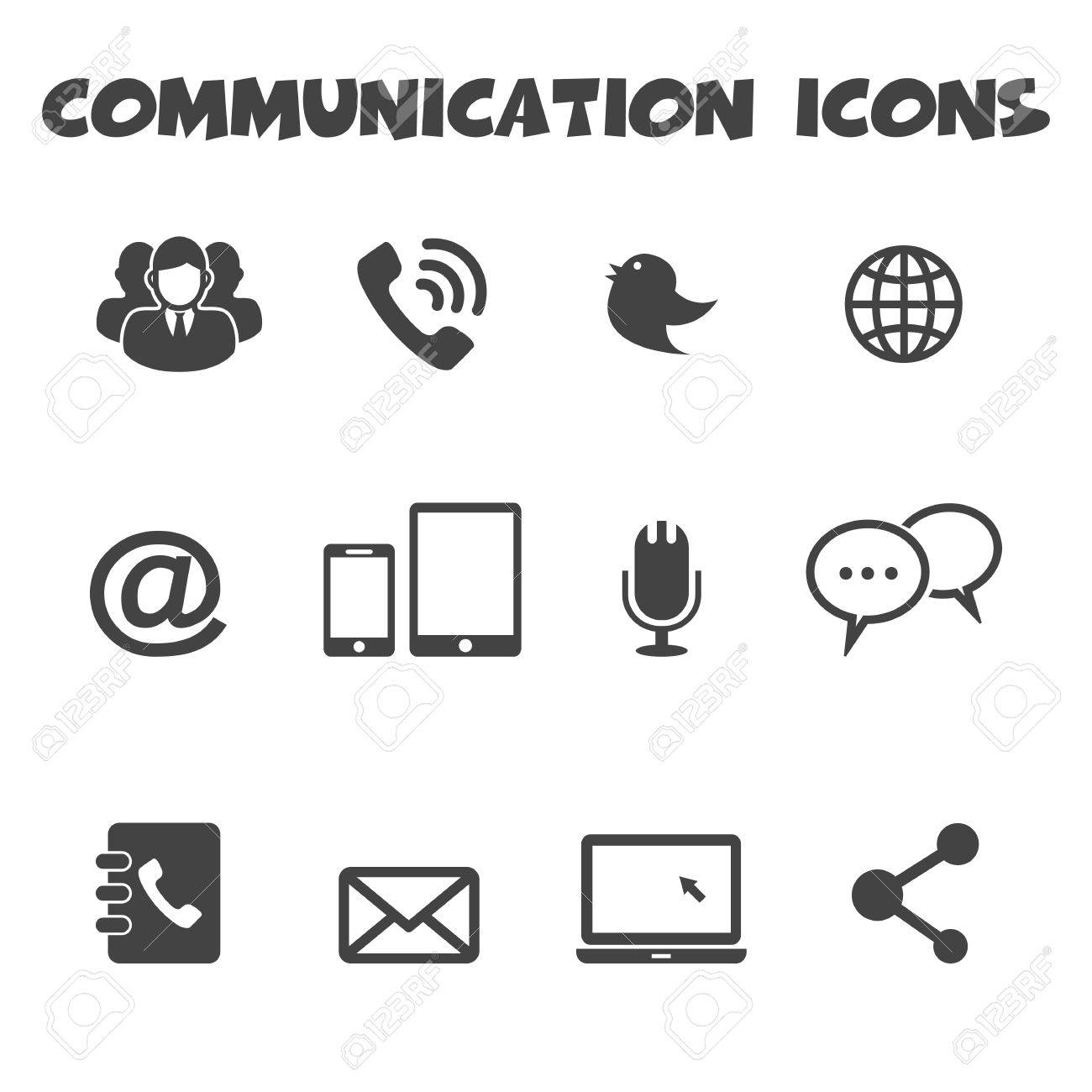 Communication icons symbols royalty free cliparts vectors and communication icons symbols stock vector 26621896 biocorpaavc Images