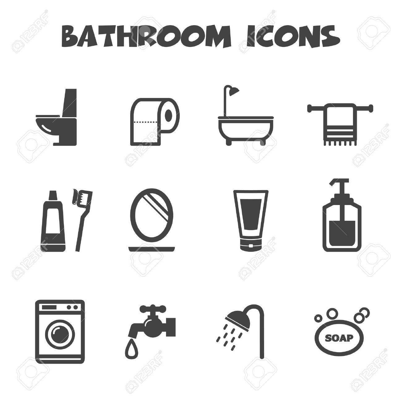 Bathroom icons symbols royalty free cliparts vectors and stock bathroom icons symbols stock vector 26617840 biocorpaavc Images