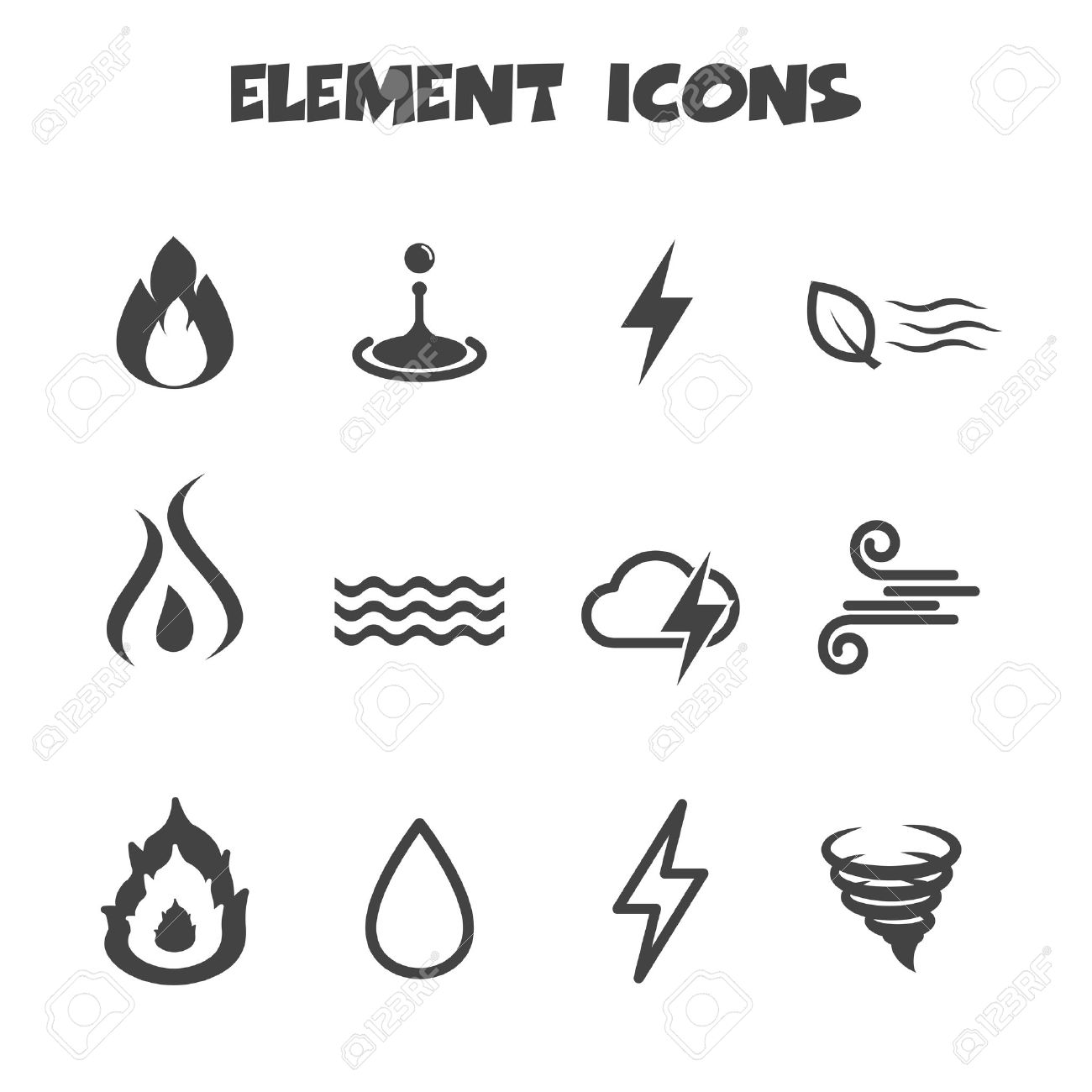 Element icons symbols royalty free cliparts vectors and stock element icons symbols stock vector 26617860 biocorpaavc Images