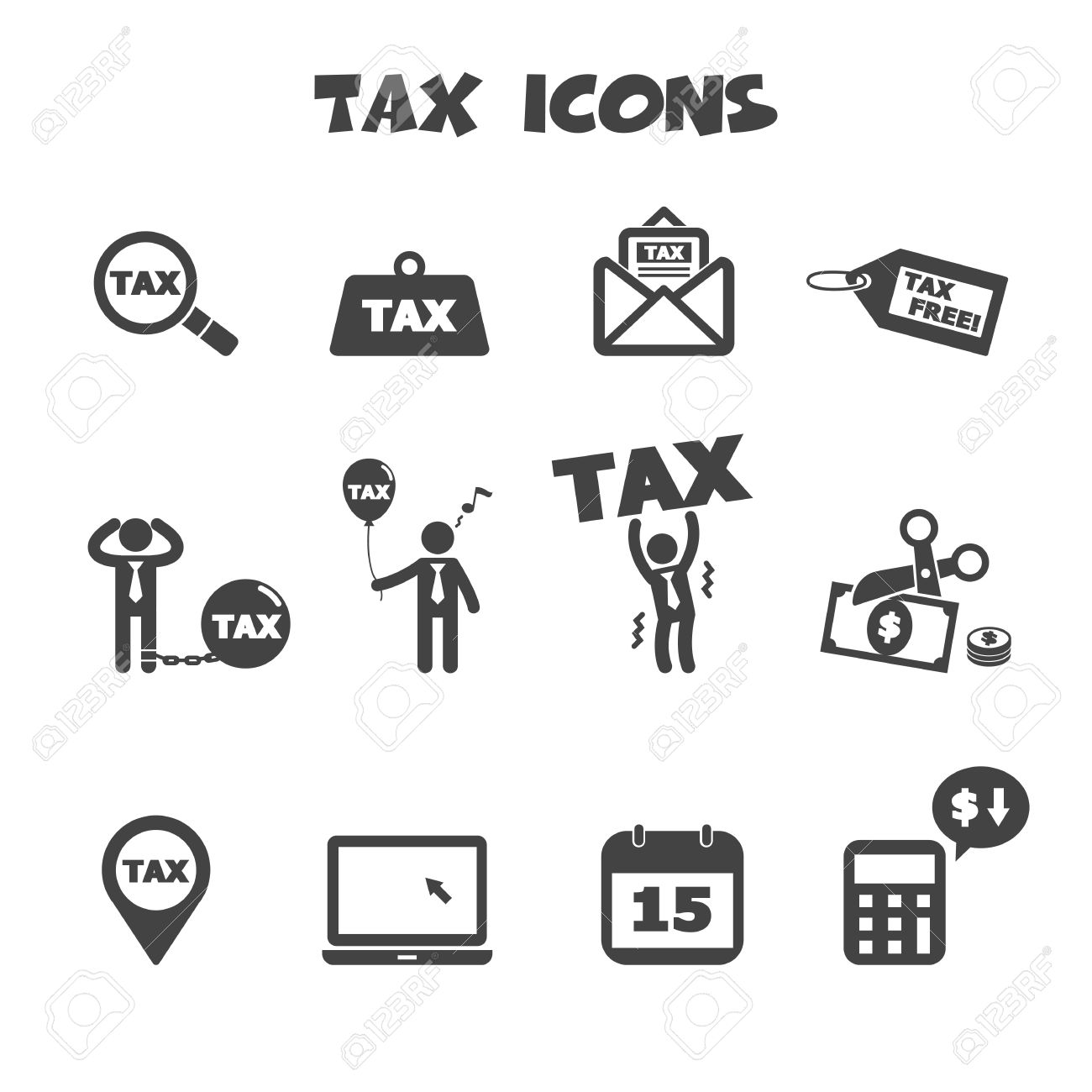 Tax icons symbols royalty free cliparts vectors and stock tax icons symbols stock vector 26617880 biocorpaavc Images