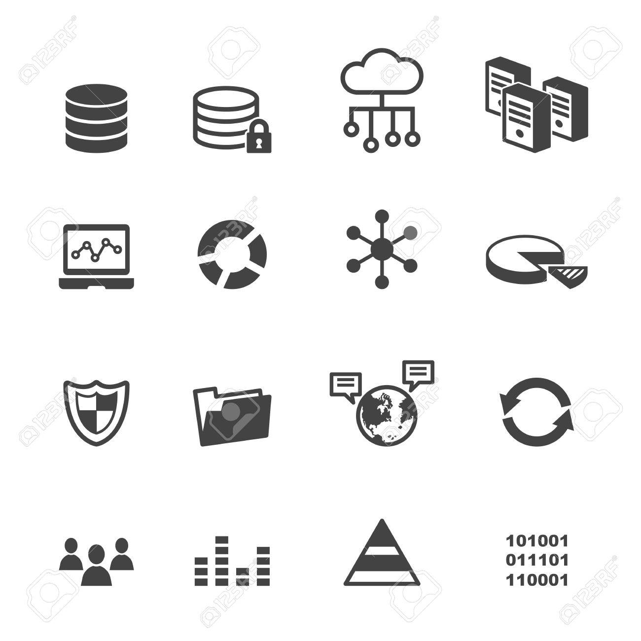 Data icons mono vector symbols royalty free cliparts vectors data icons mono vector symbols stock vector 40031489 biocorpaavc