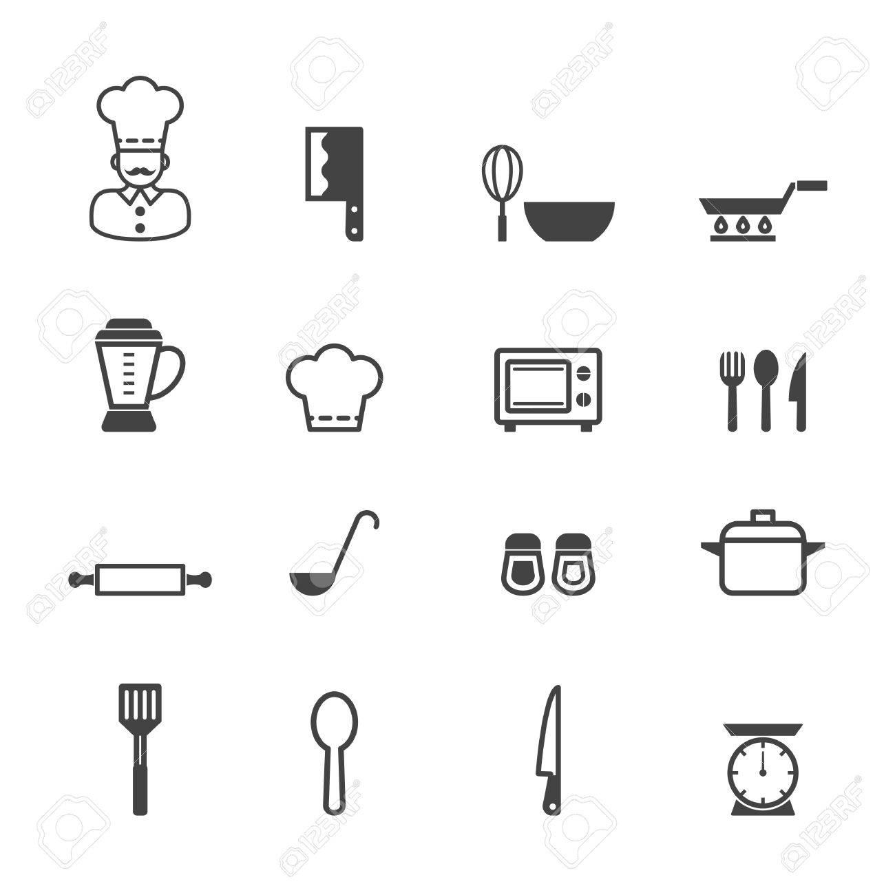 Küche Symbole | Kuche Icons Mono Vektor Symbole Lizenzfrei Nutzbare Vektorgrafiken