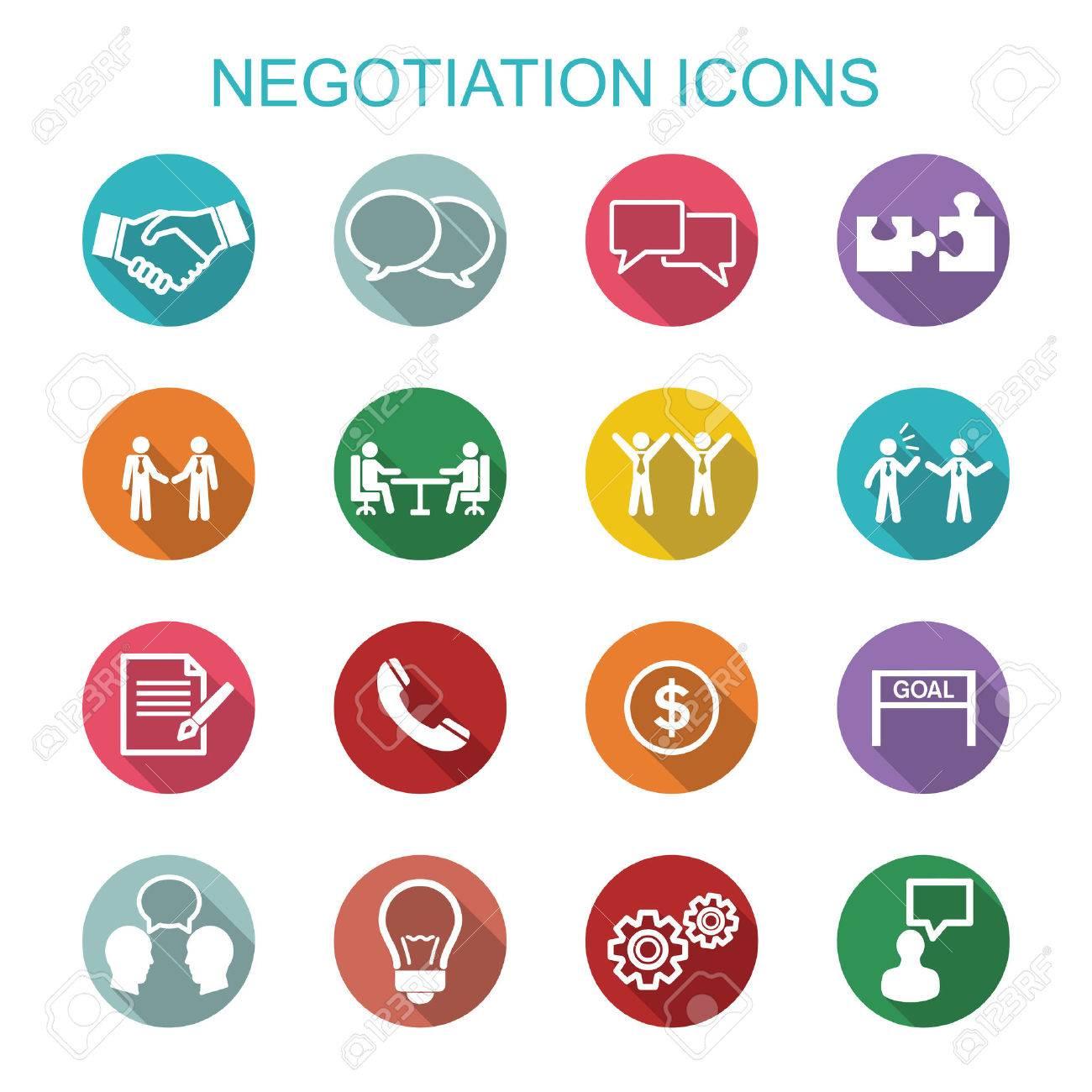 Negotiation icons, flat vector symbols - 40903597
