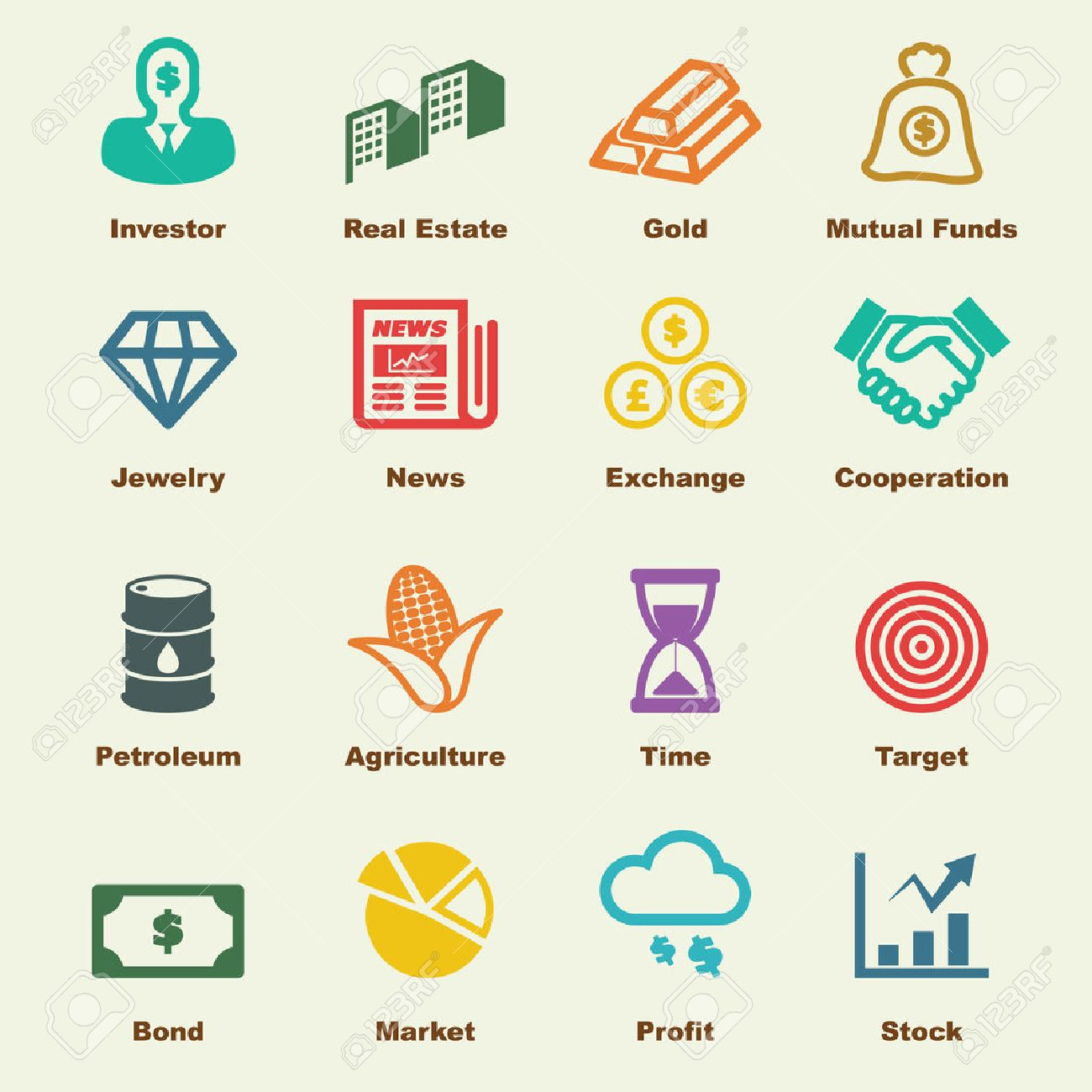 investment elements vector infographic icons royalty free cliparts