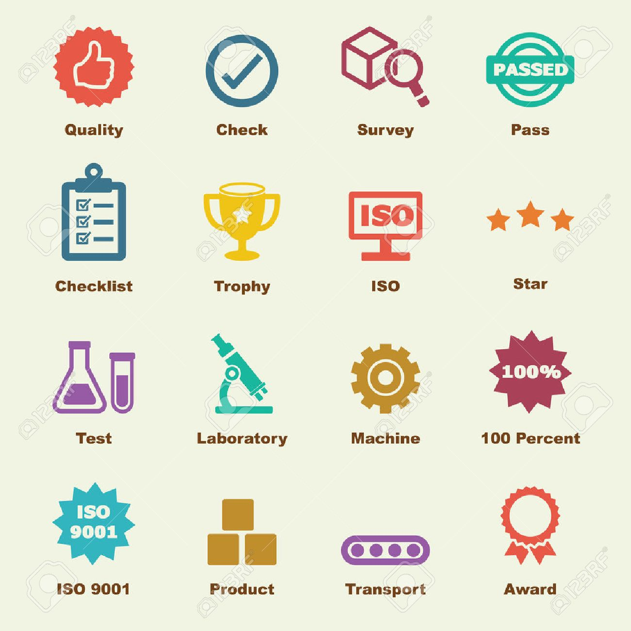 quality control elements vector infographic icons royalty free