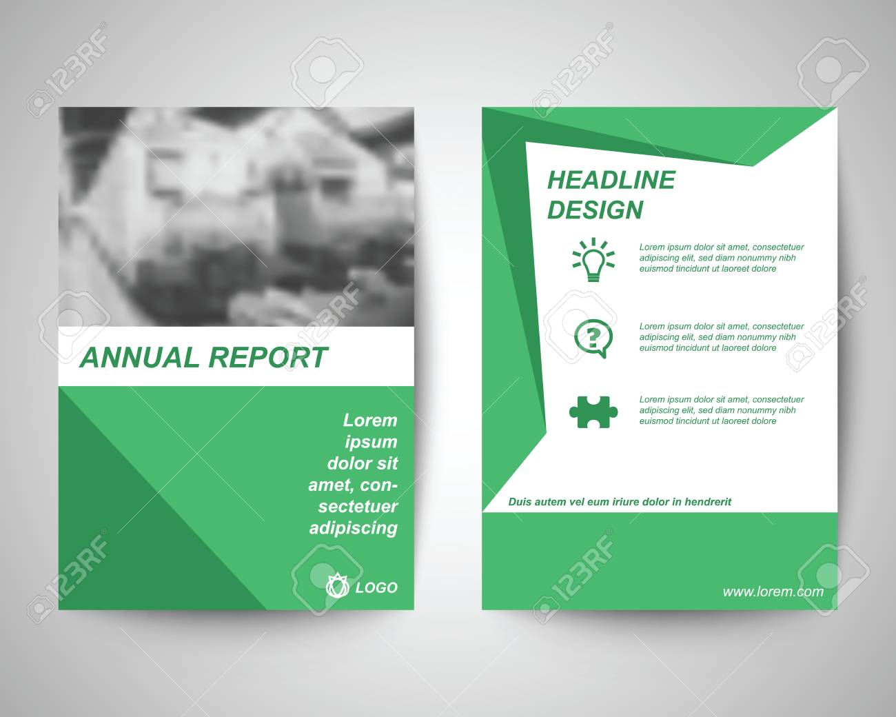 green with train background abstract flyer layout template brochure background leaflet with cover