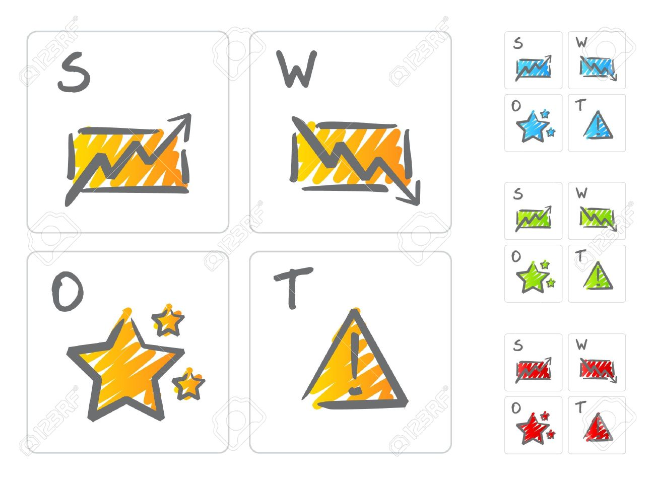 swot analysis icons royalty cliparts vectors and stock swot analysis icons stock vector 10494634