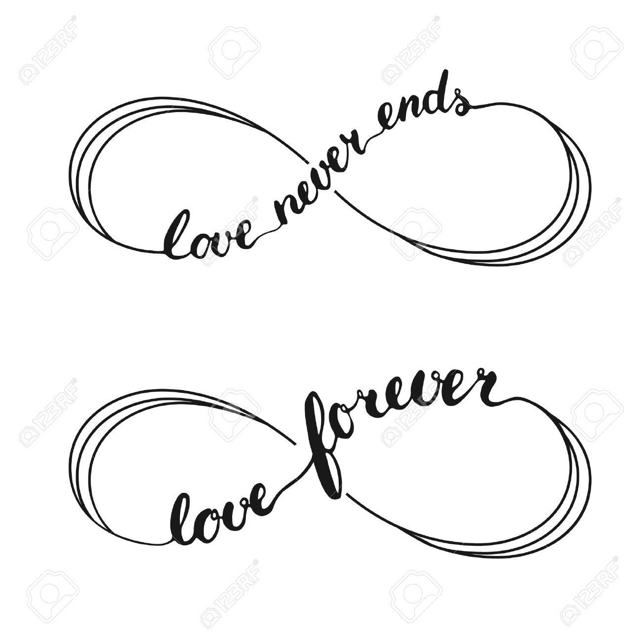 Infinity Love Símbolo Tatuaje Con El Símbolo De Infinito Mano De