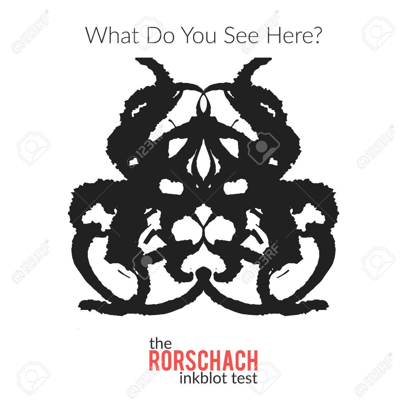 Le Vecteur De Test Inkblot Variation Isole Rorschach Pour Le Test Psychologique Pour Les Psychologues Et Leurs Patients La Technique Rorschach Avec Tache D Encre Tiree Par La Main Utilisee En Psychologie Clip