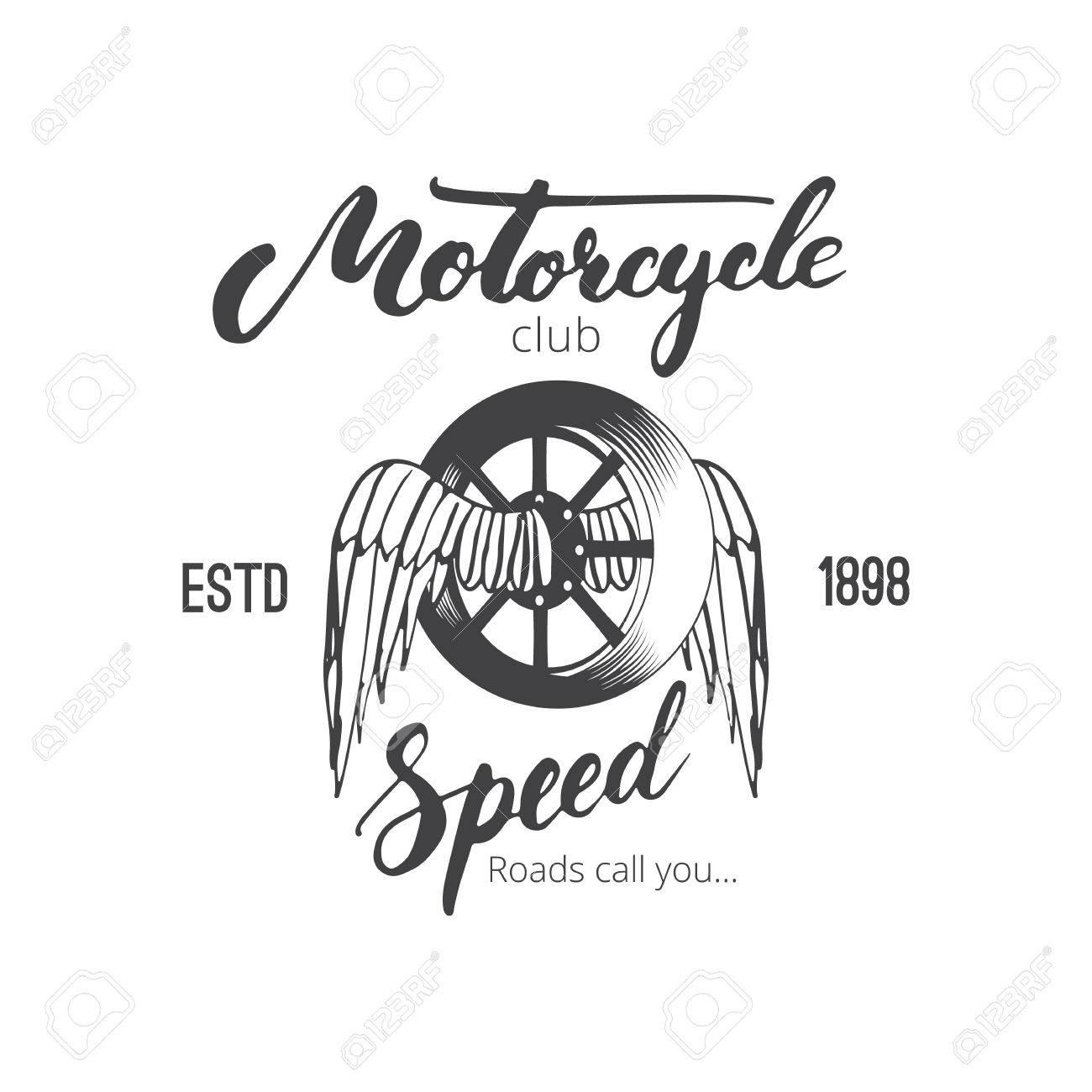 Vecteur Moto De Conception De Club Badge Ou Un Embleme Pour Le Club