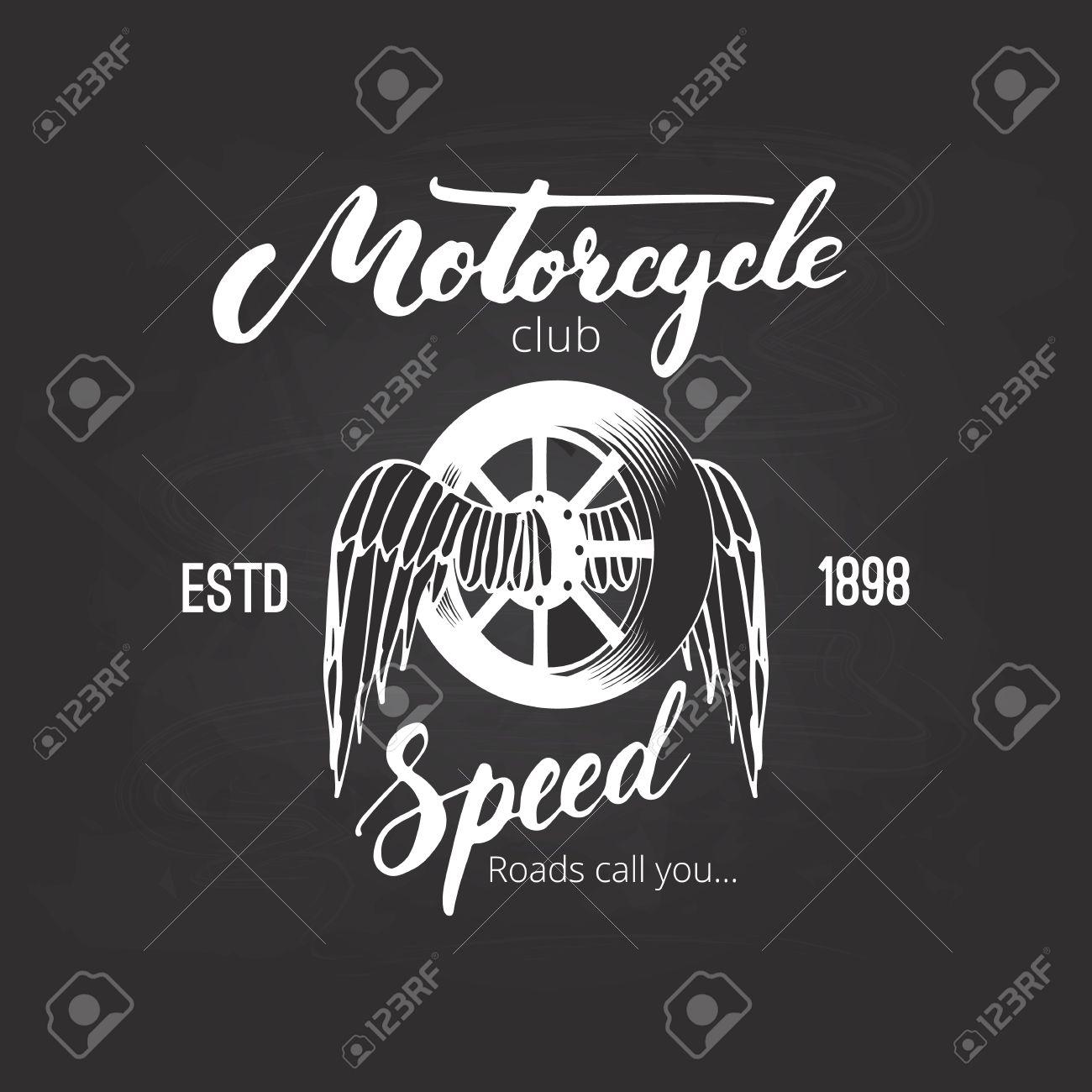 Icone De Club De Moto Vectorielle Pour Votre Design Badge Ou