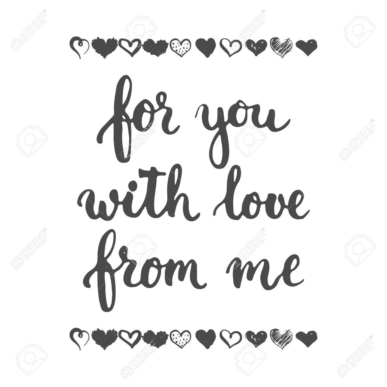 Conjunto De Frases Dibujadas A Mano Sobre El Amor Para Ti De Mi