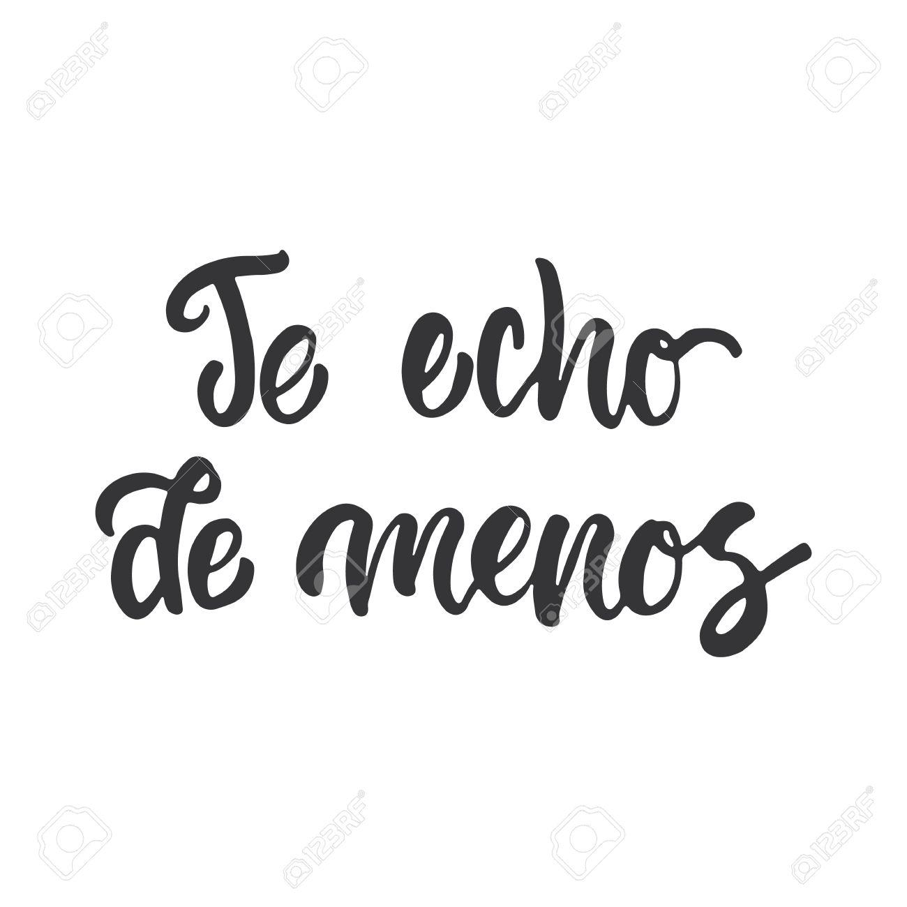 Te extrano i miss you lettering calligraphy phrase in spanish te extrano i miss you lettering calligraphy phrase in spanish handwritten text isolated altavistaventures Gallery