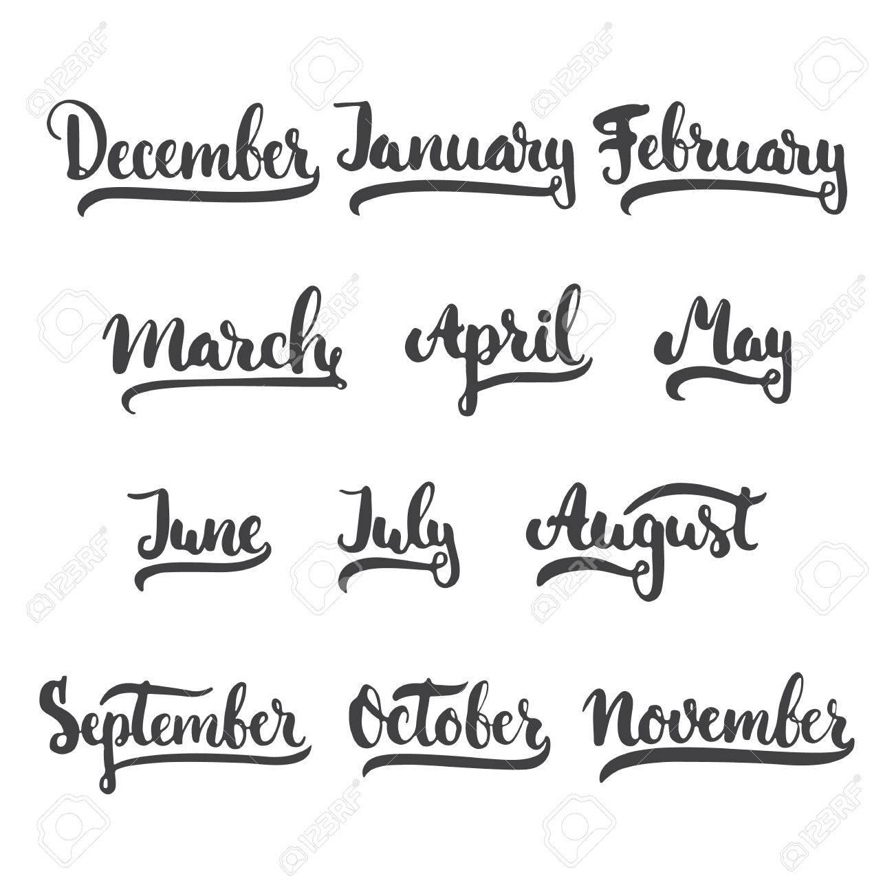 12 Meses Del Año Enero Febrero Marzo Abril Mayo Junio Julio
