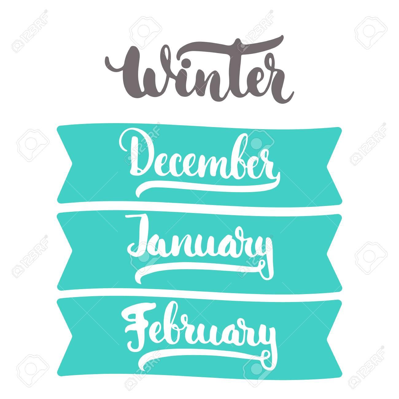 3 Meses De Invierno Del Año Diciembre Enero Febrero Signo De