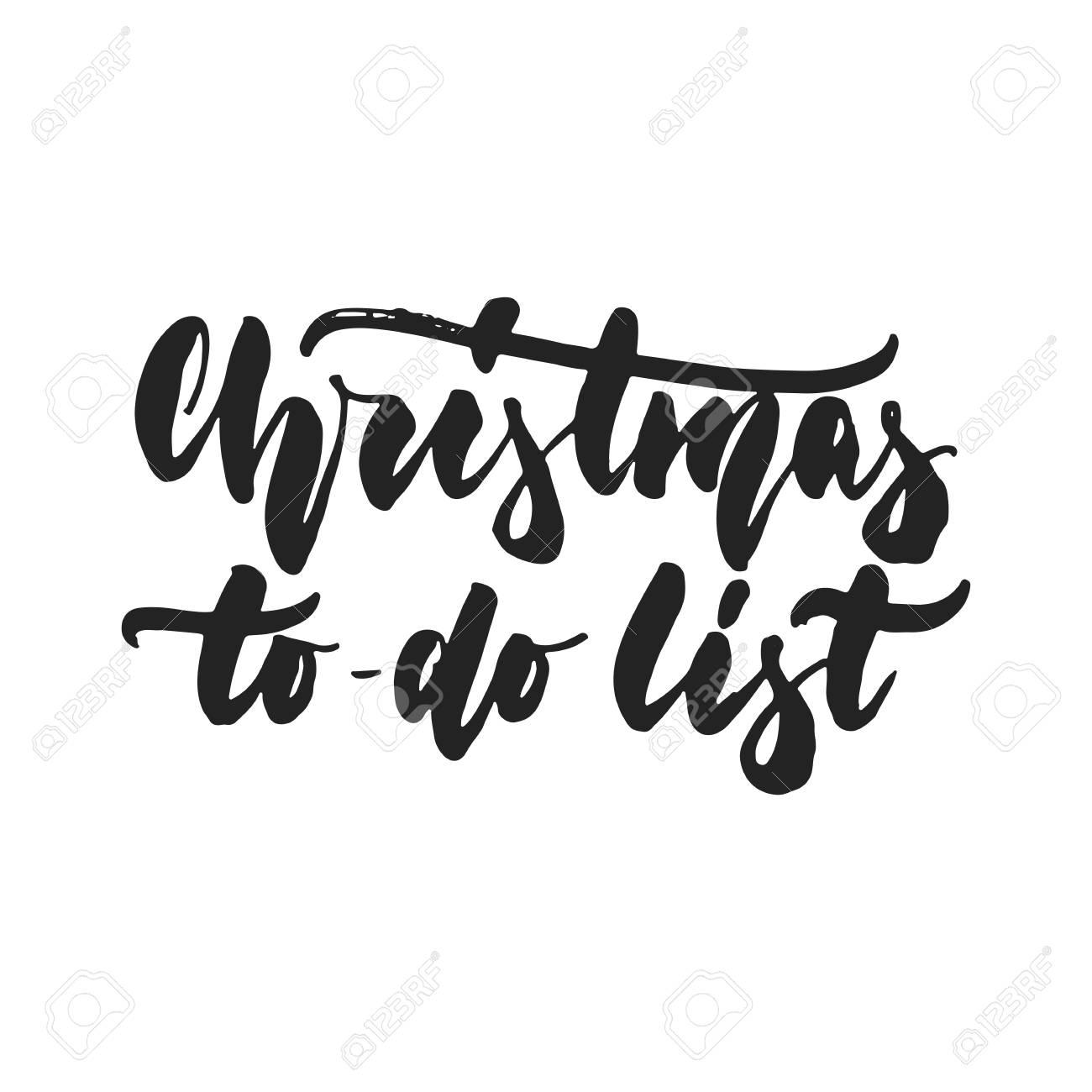 Weihnachts-To-Doliste - übergeben Sie Gezogene ...