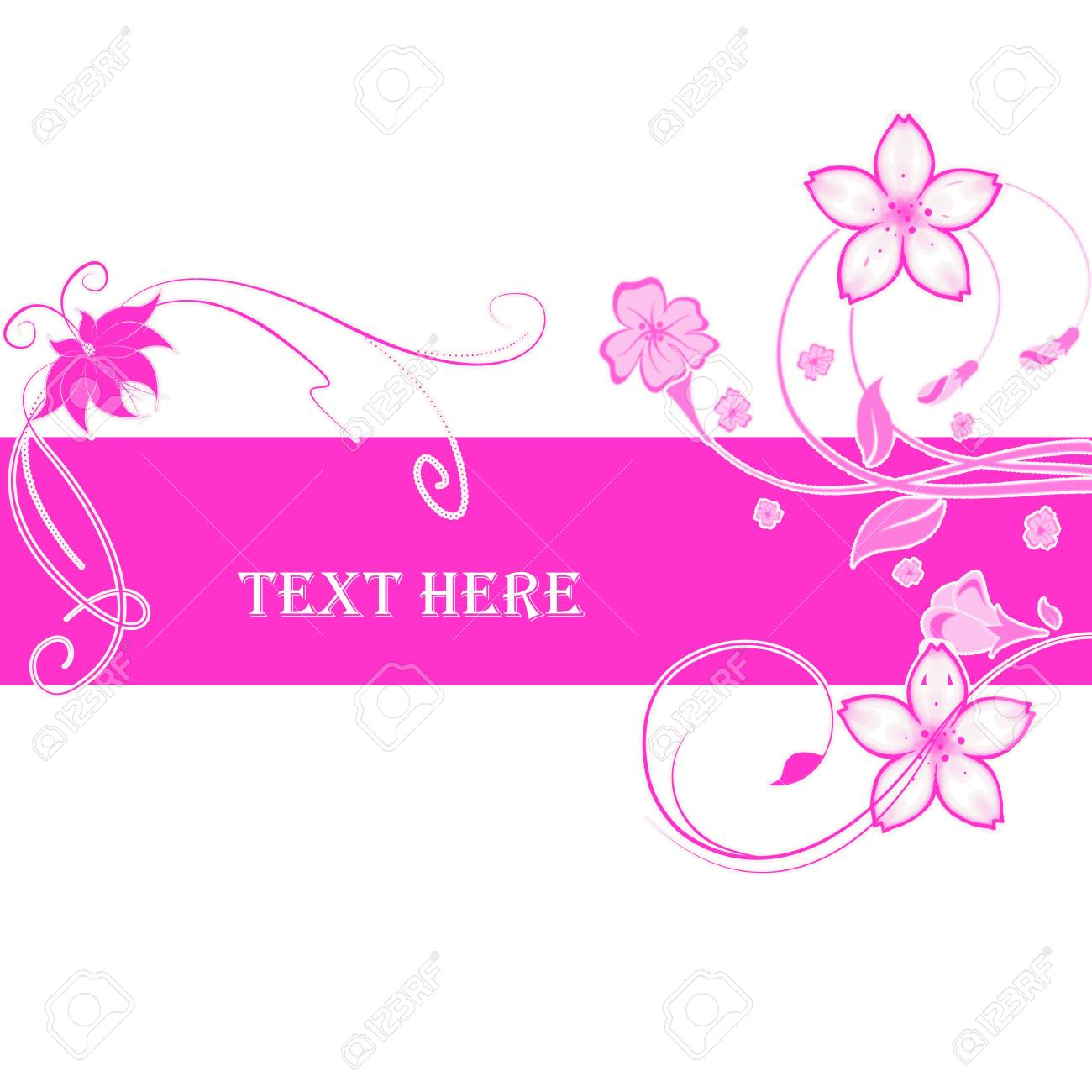 Abstract flowers with place for text Stock Photo - 6839783