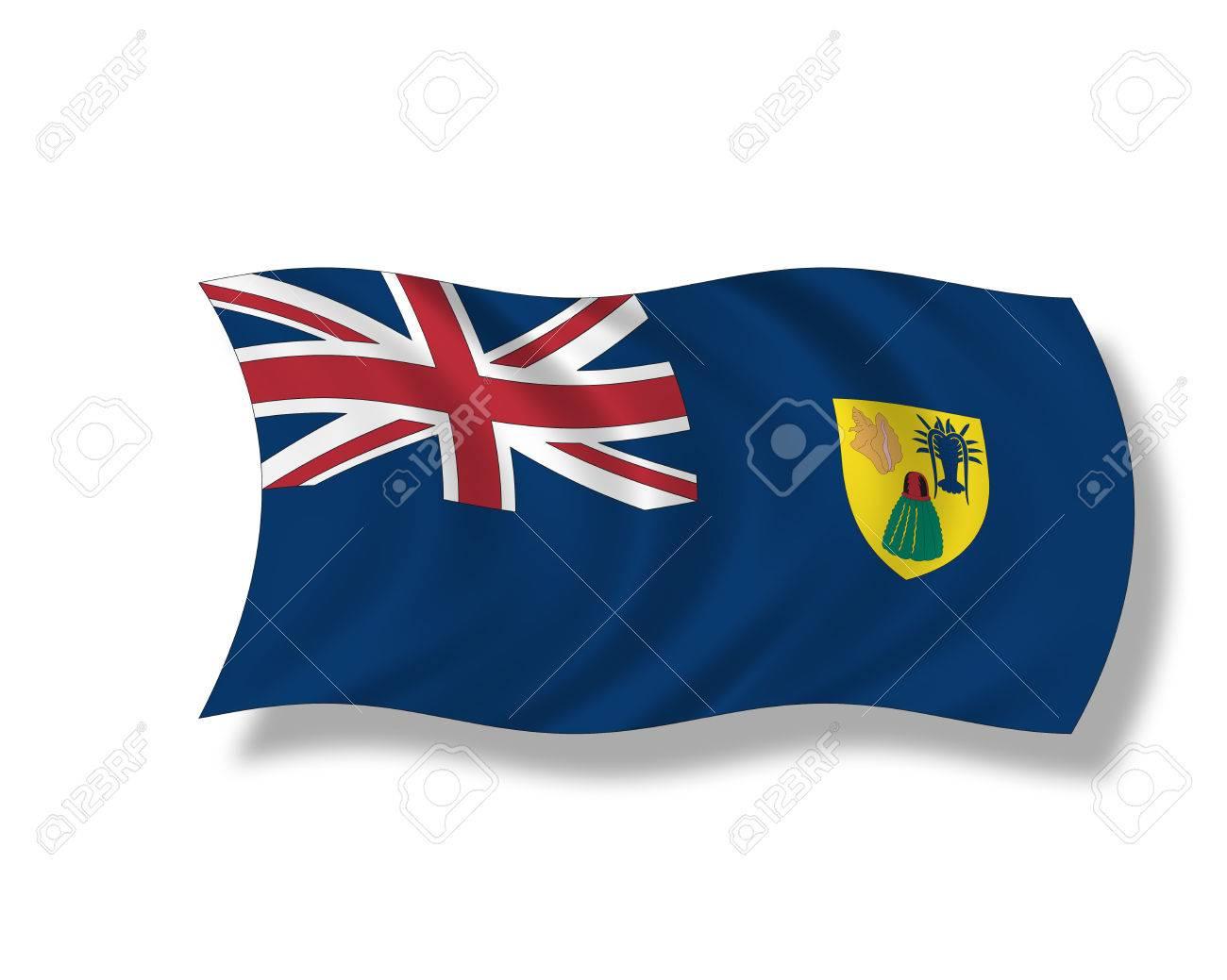 Ilustracion Bandera De Las Islas Turcas Y Caicos Fotos Retratos