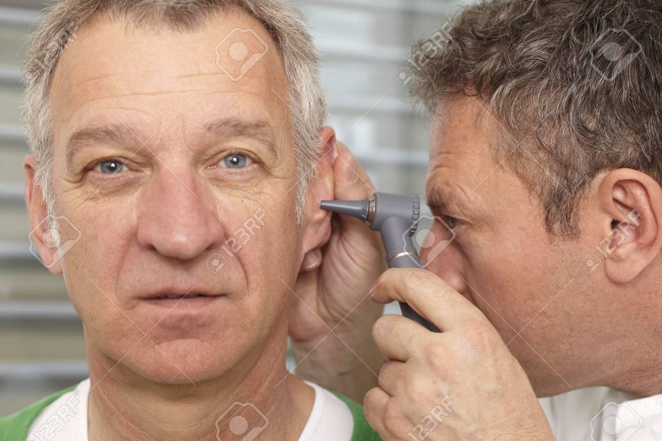 Man gets medical examination