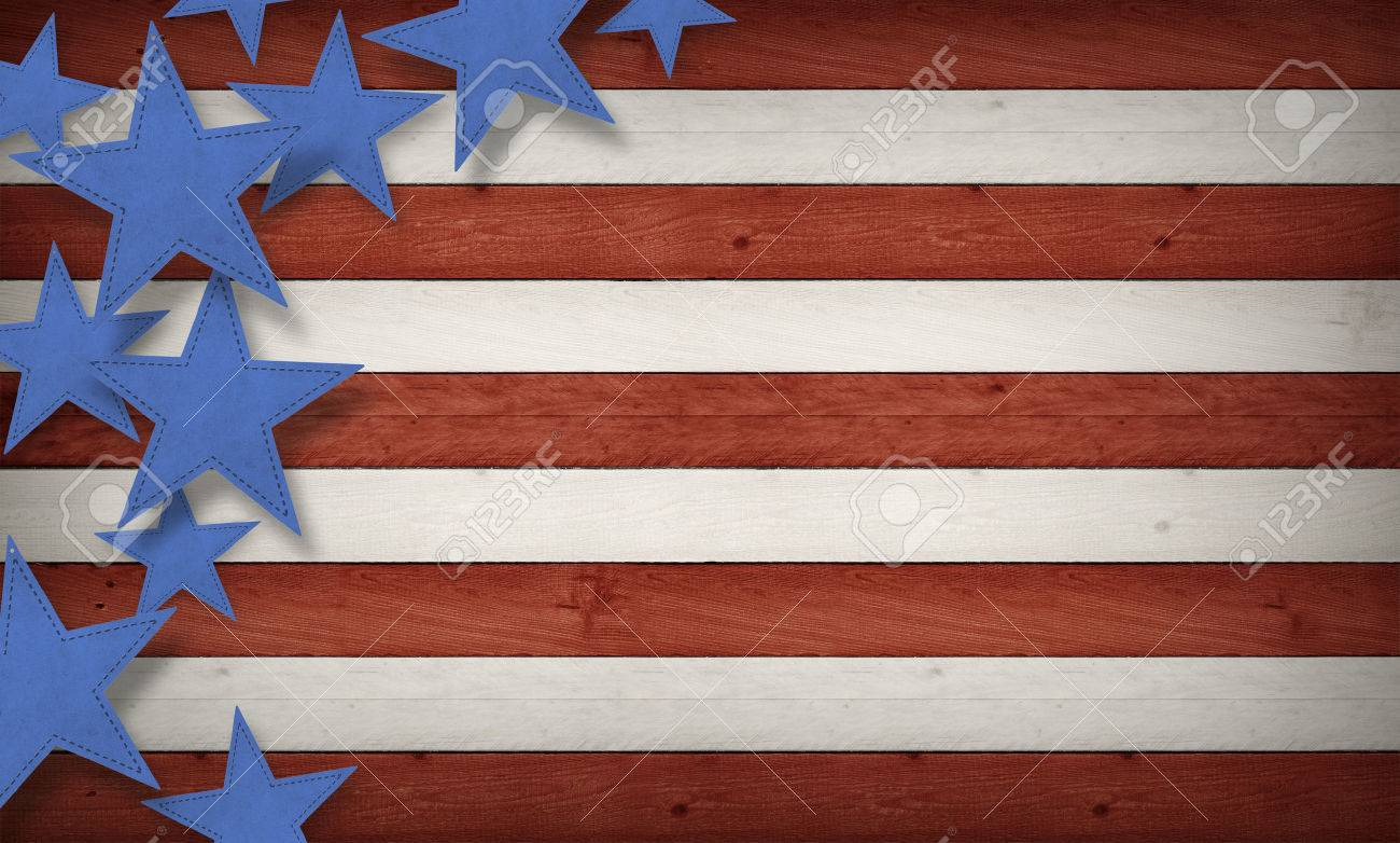 Fourth Of July Background Usa Themed Composite Stock Photo