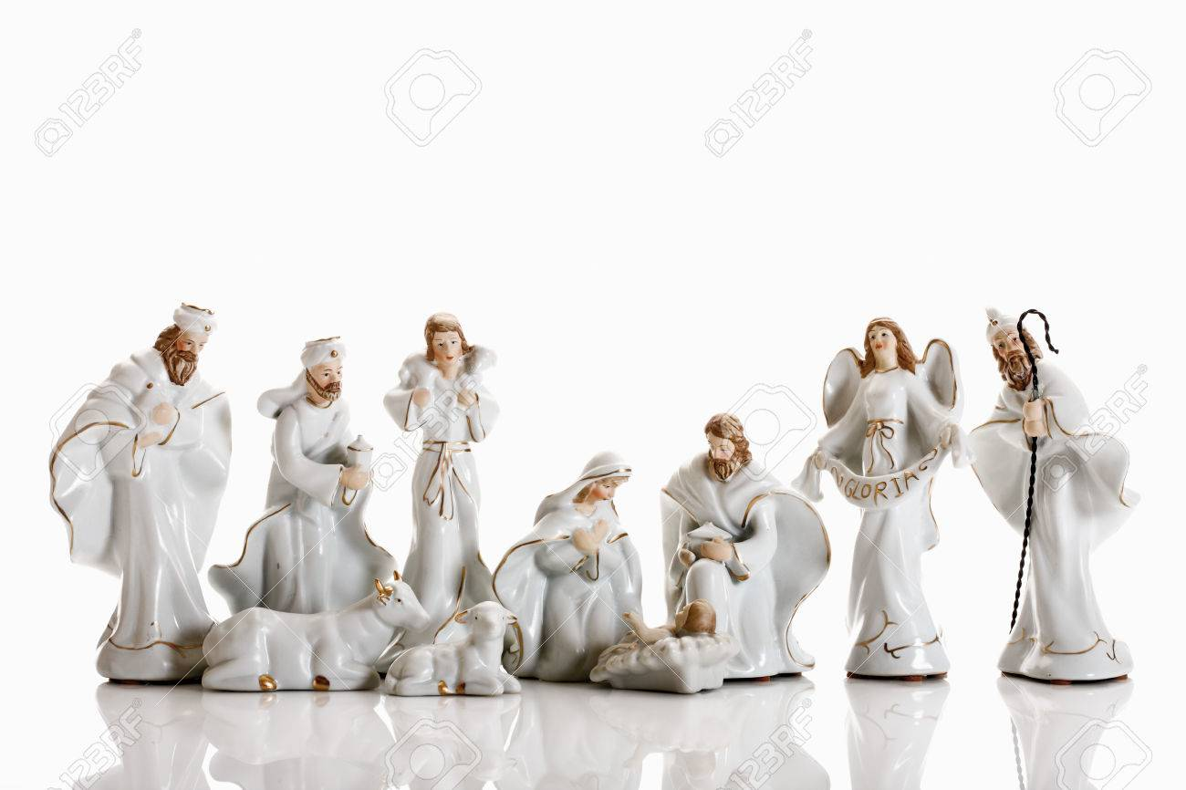 La Decoracion De Navidad Belen Figuras Del Pesebre Fotos Retratos - Decoracion-figuras