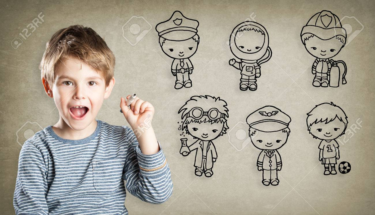 boy career aspiration little figures stock photo picture and boy career aspiration little figures stock photo 47664585