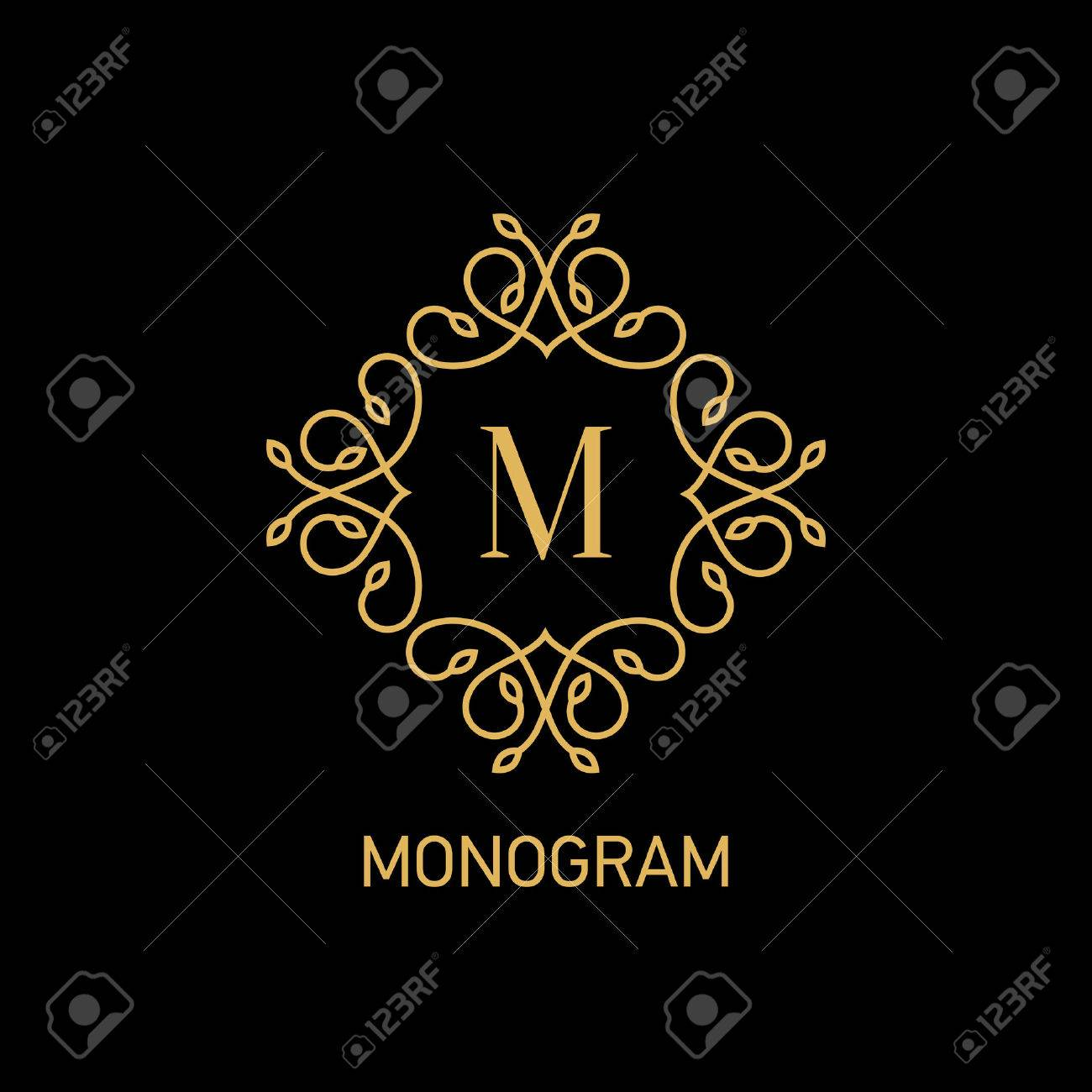 Monogram logo design. Vector illustration - 37581078