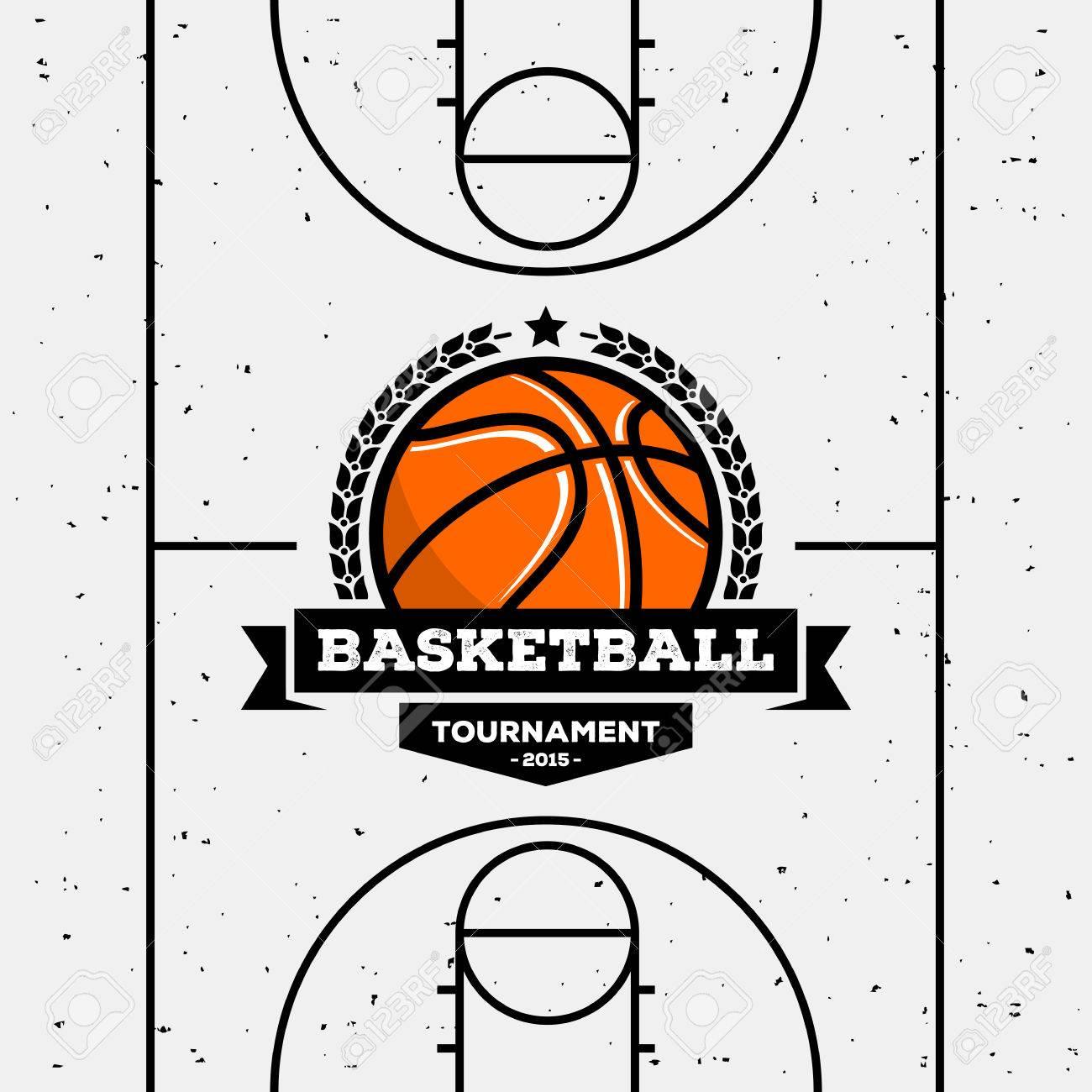 Basketball-Logo Mit Der Kugel. Geeignet Für Turniere ...