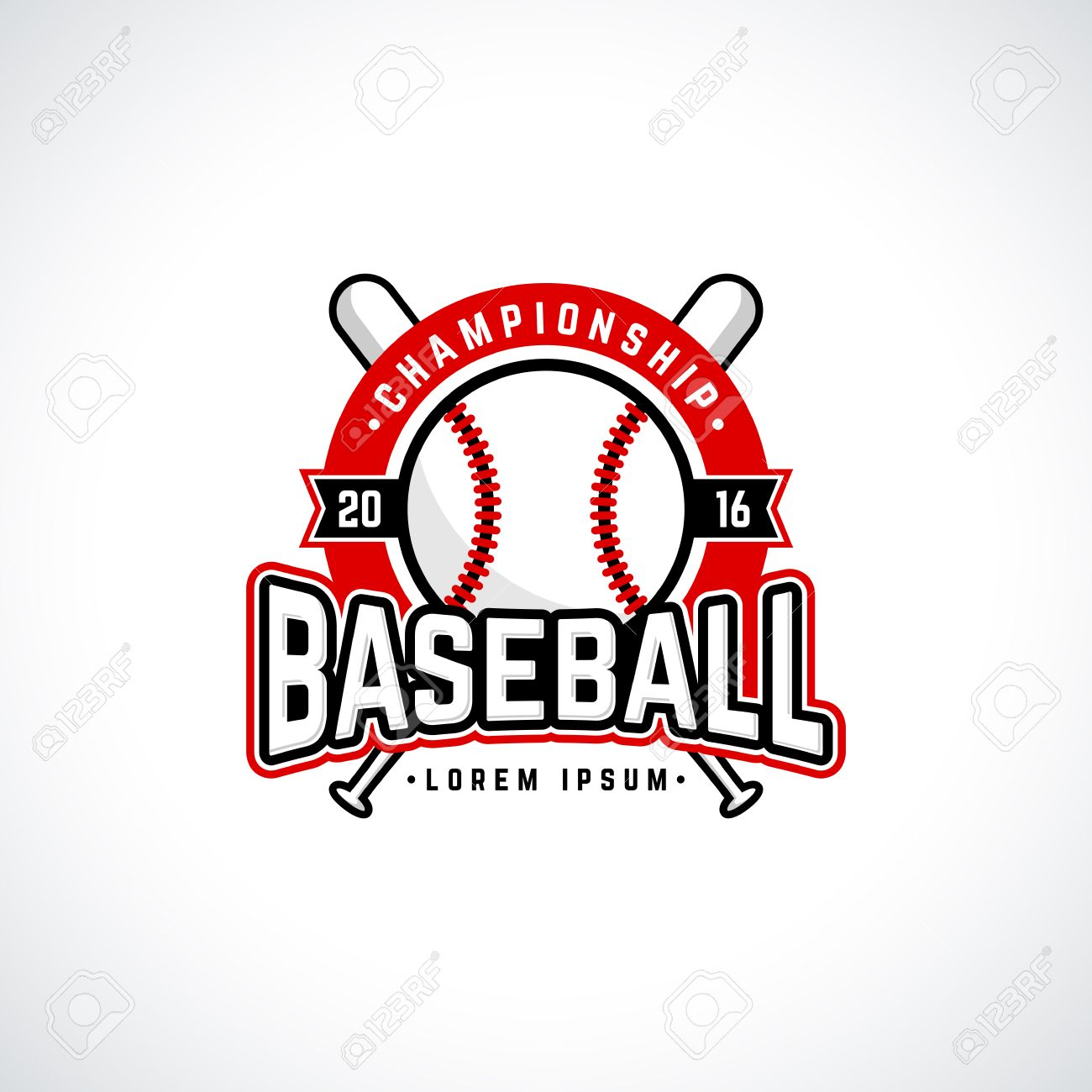 Baseball Championship Logo With Ball. Vector Design Template ...